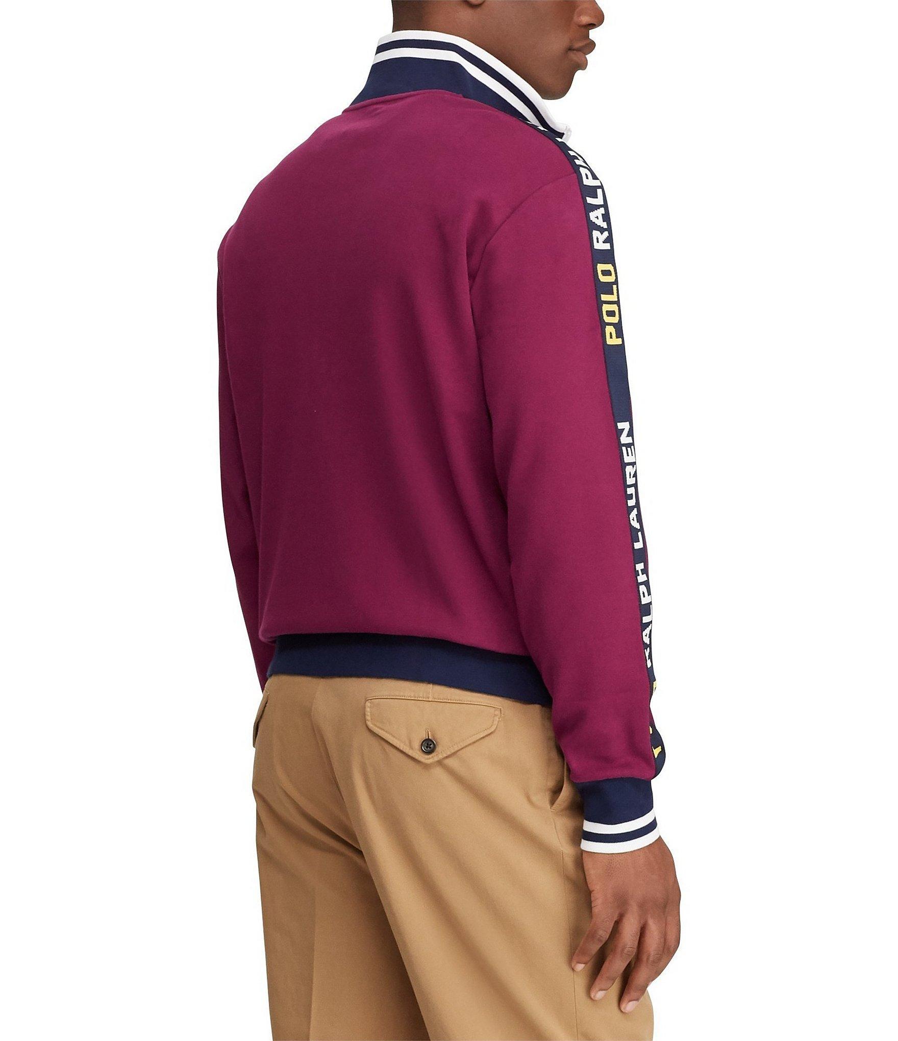 NWT Ralph Lauren Mens LS Classic Wine Bayport Windbreaker Jacket Sz S L NEW $145