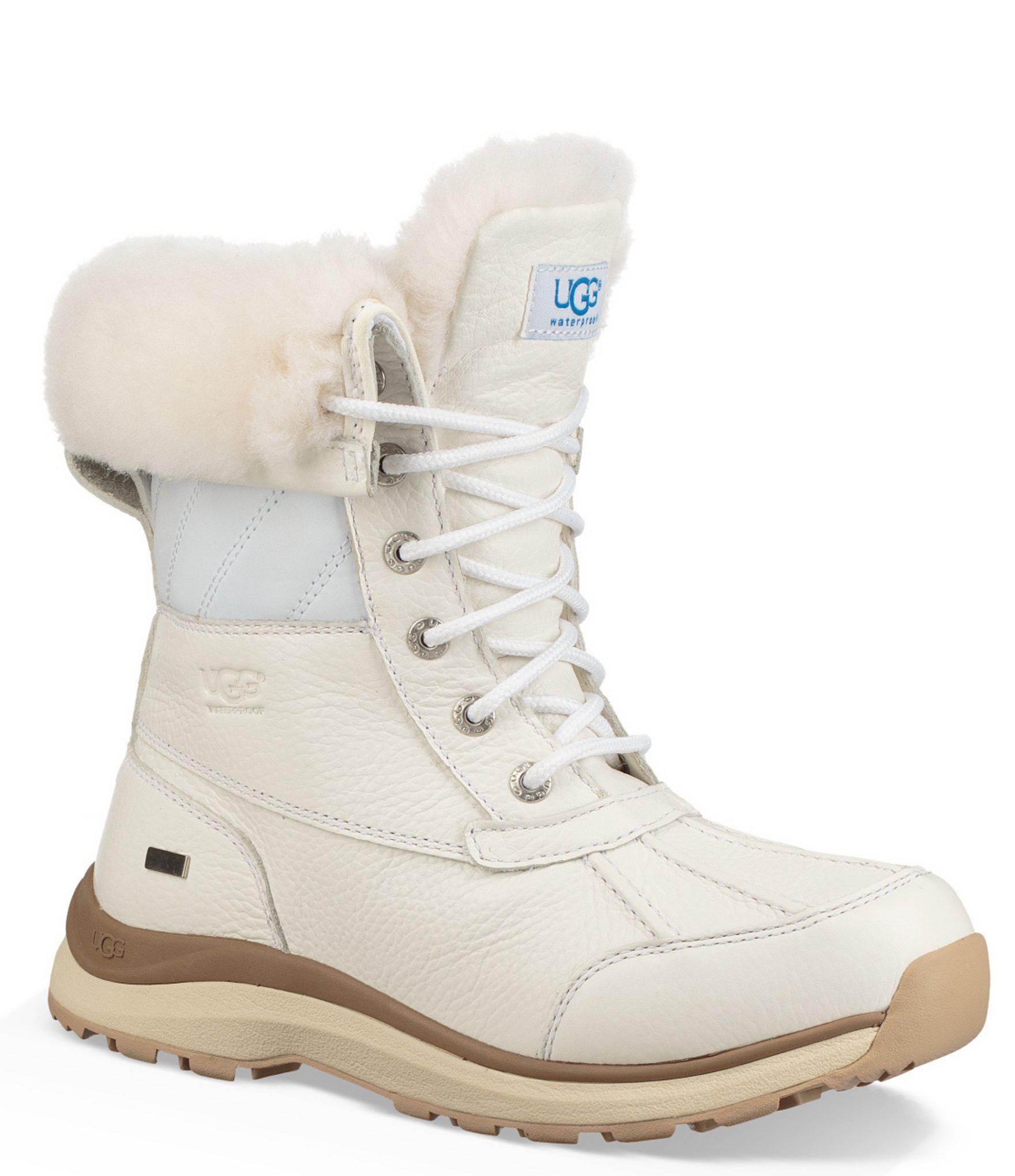 145a0b24254 Ugg White Adirondack Iii Quilted Winter Waterproof Boots