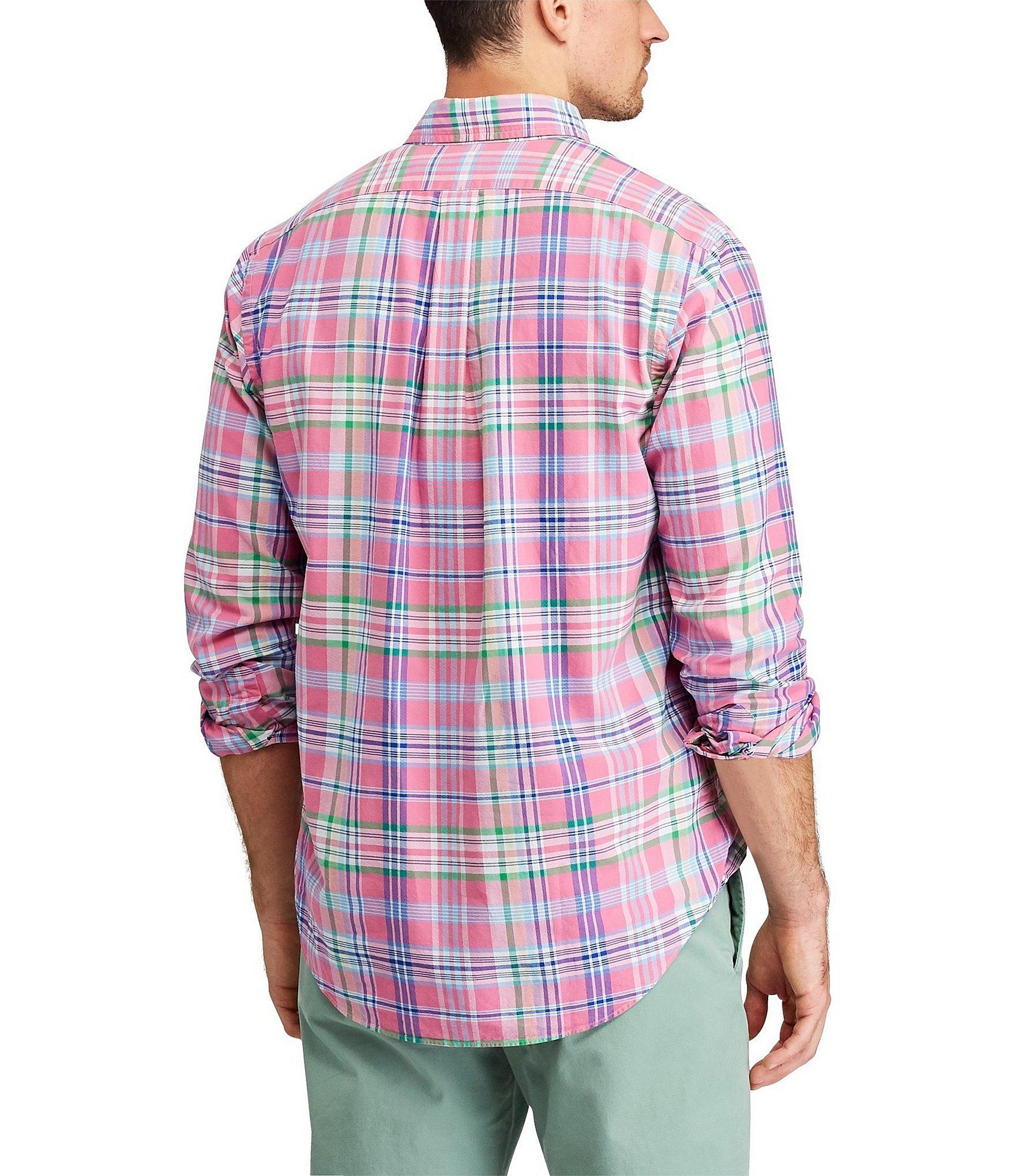 3bc61776f Polo Ralph Lauren - Multicolor Plaid Oxford Long-sleeve Woven Shirt for Men  - Lyst. View fullscreen