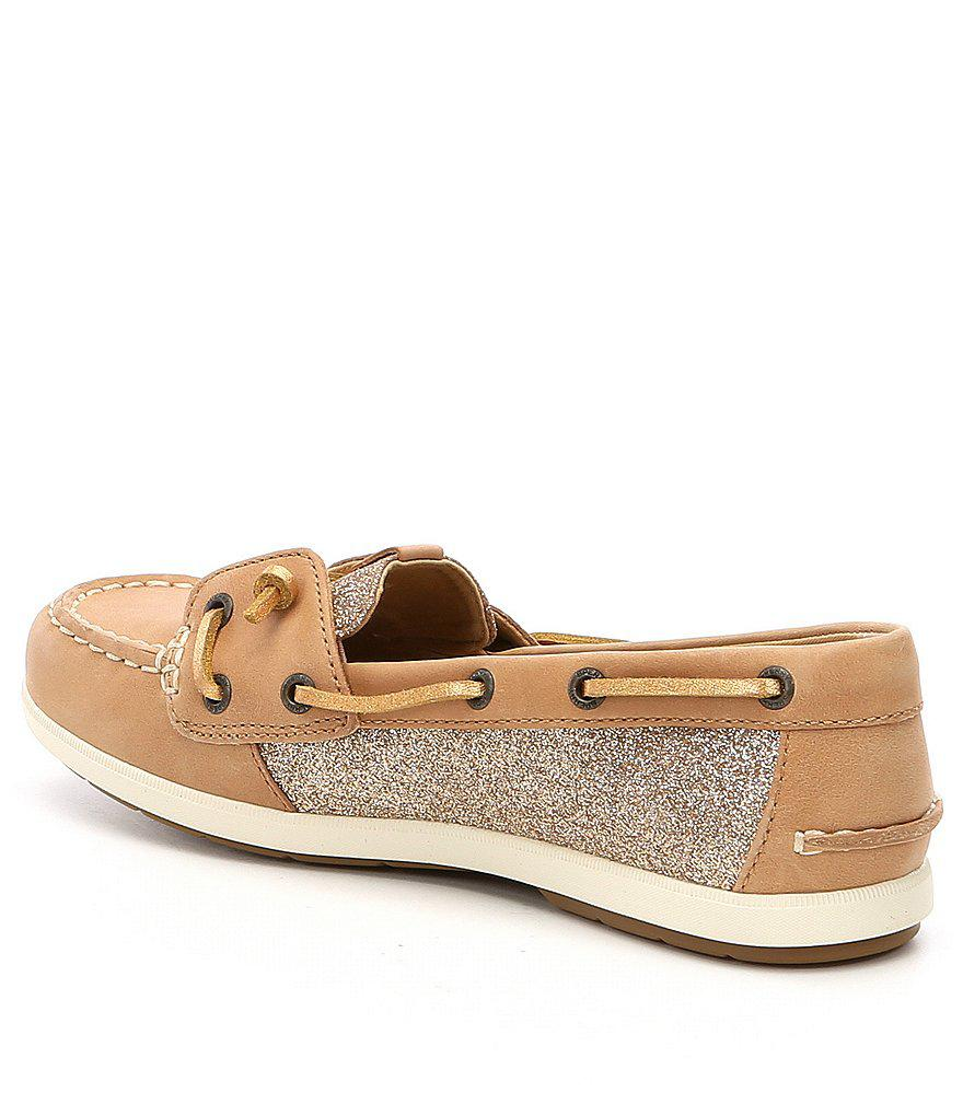 47163ccf2269 Sperry Top-Sider Coil Ivy Sparkle Boat Shoes in Pink - Lyst