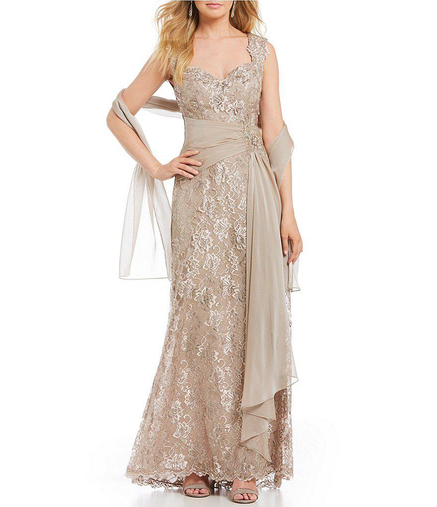Lyst - Mon Cheri Montage By V-neck Lace Gown