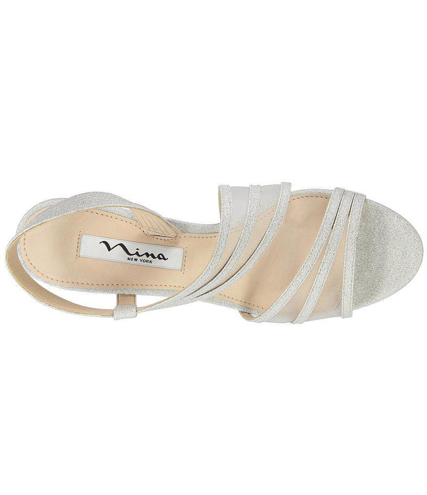 Vitalia Metallic Fabric & Mesh Slip-On Dress Sandals Cq2E6
