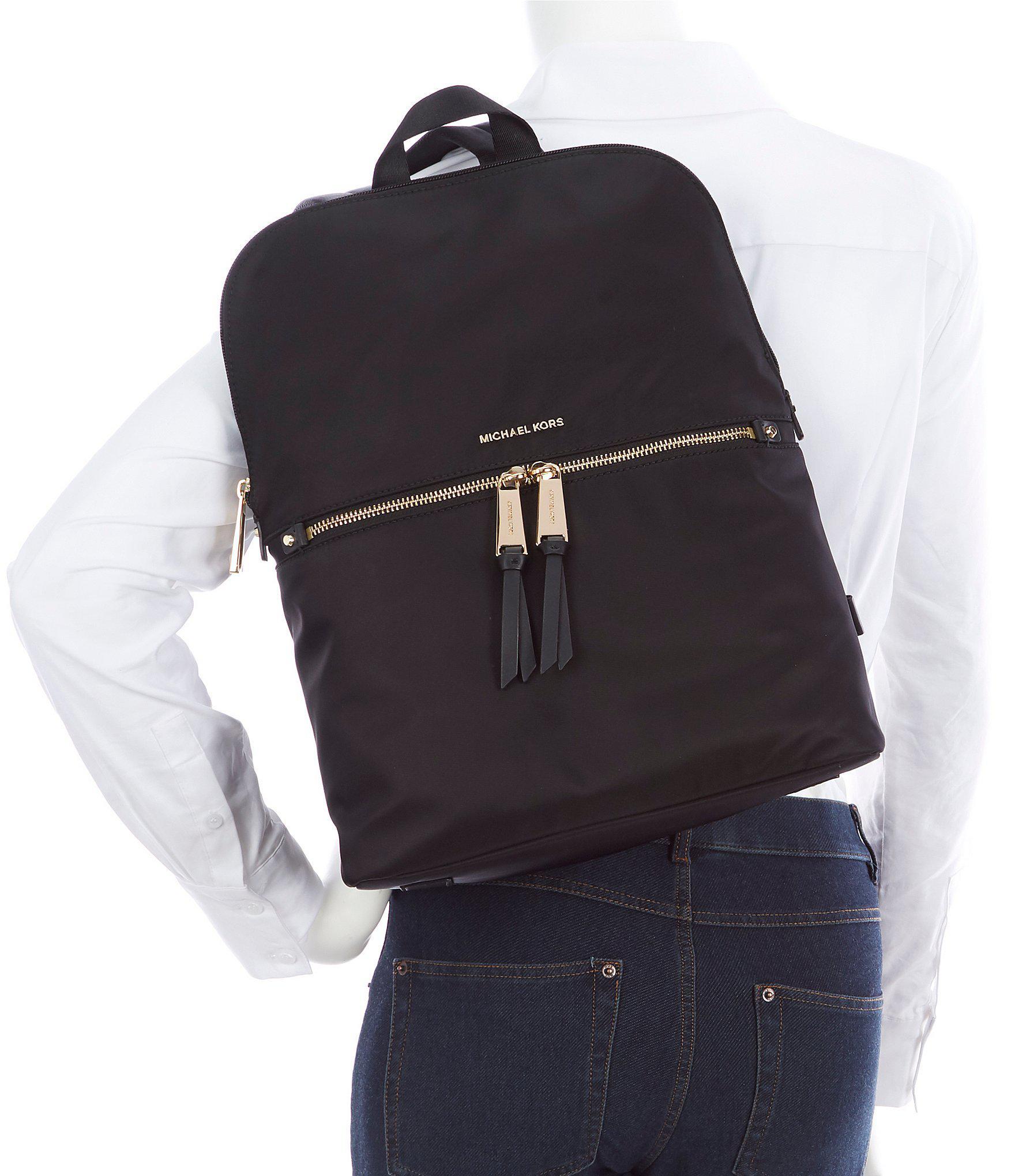 1a6f7d061de8 MICHAEL Michael Kors - Black Polly Medium Nylon Slim Backpack - Lyst. View  fullscreen