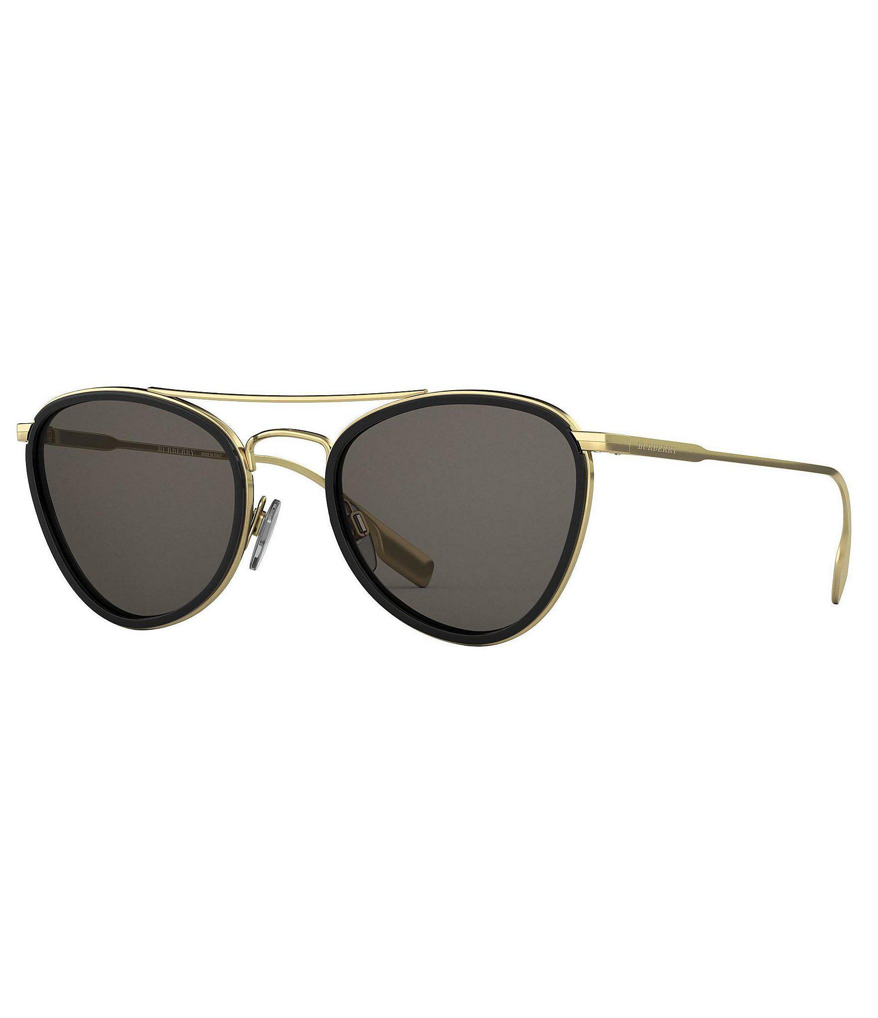 9c939100b83b Lyst - Burberry Modified Aviator Sunglasses