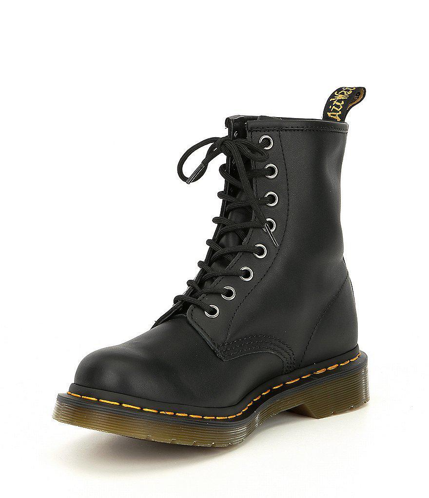 Dr. Martens Women's 1460 Black Nappa Combat Boots ZyGpyPL9ax