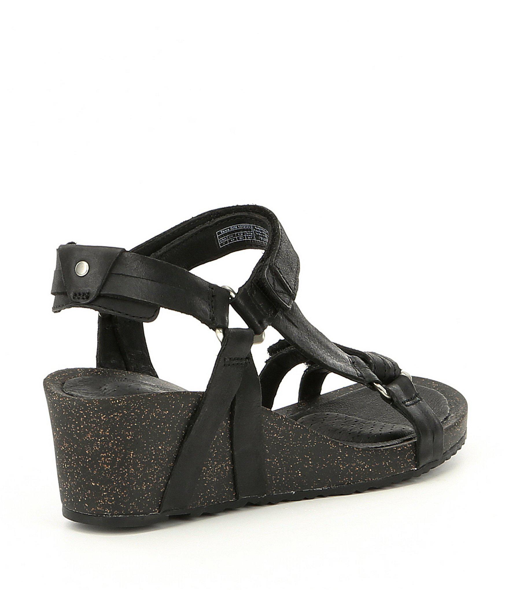 bbf41f840356c Teva - Black Ysidro Universal Wedge Sandals - Lyst. View fullscreen
