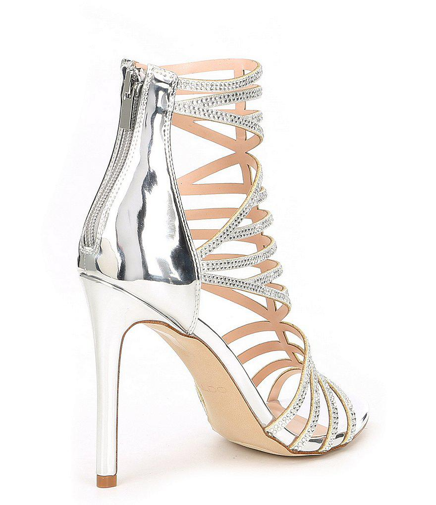 Aldo Fabricadiroma Caged Rhinestone Jeweled Dress Sandals D9h9HU