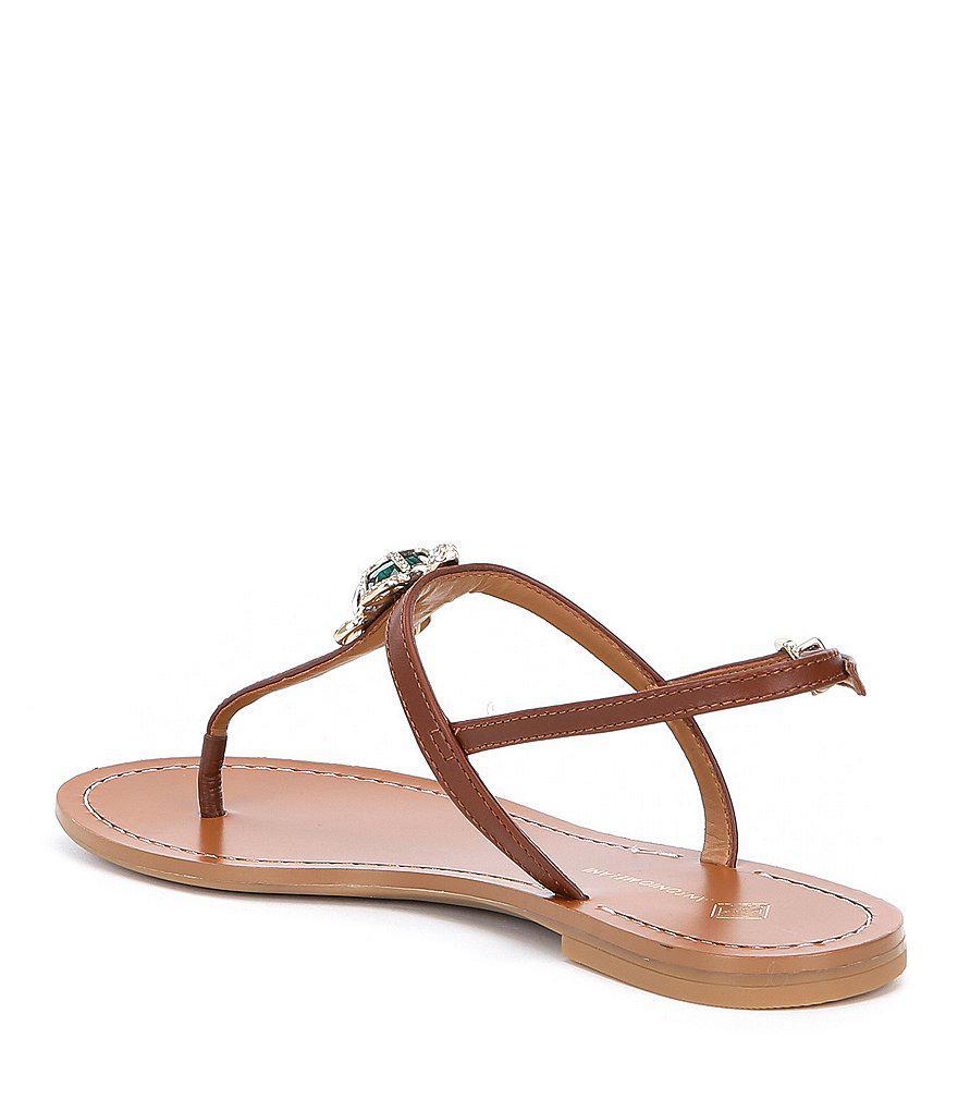 3de2753a66b5 Lyst - Antonio Melani Tulias Jewel Turtle Ornament Thong Sandals in ...