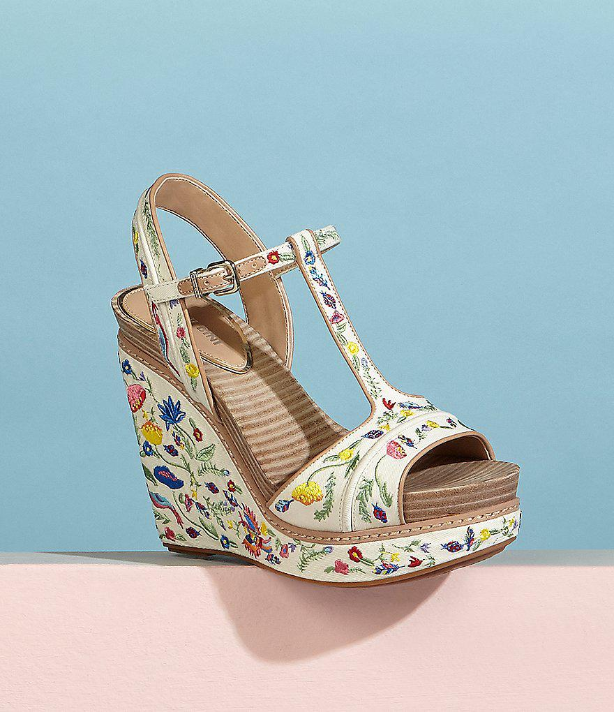 Sarritahh Floral Embroidered Wedges ZM9PP