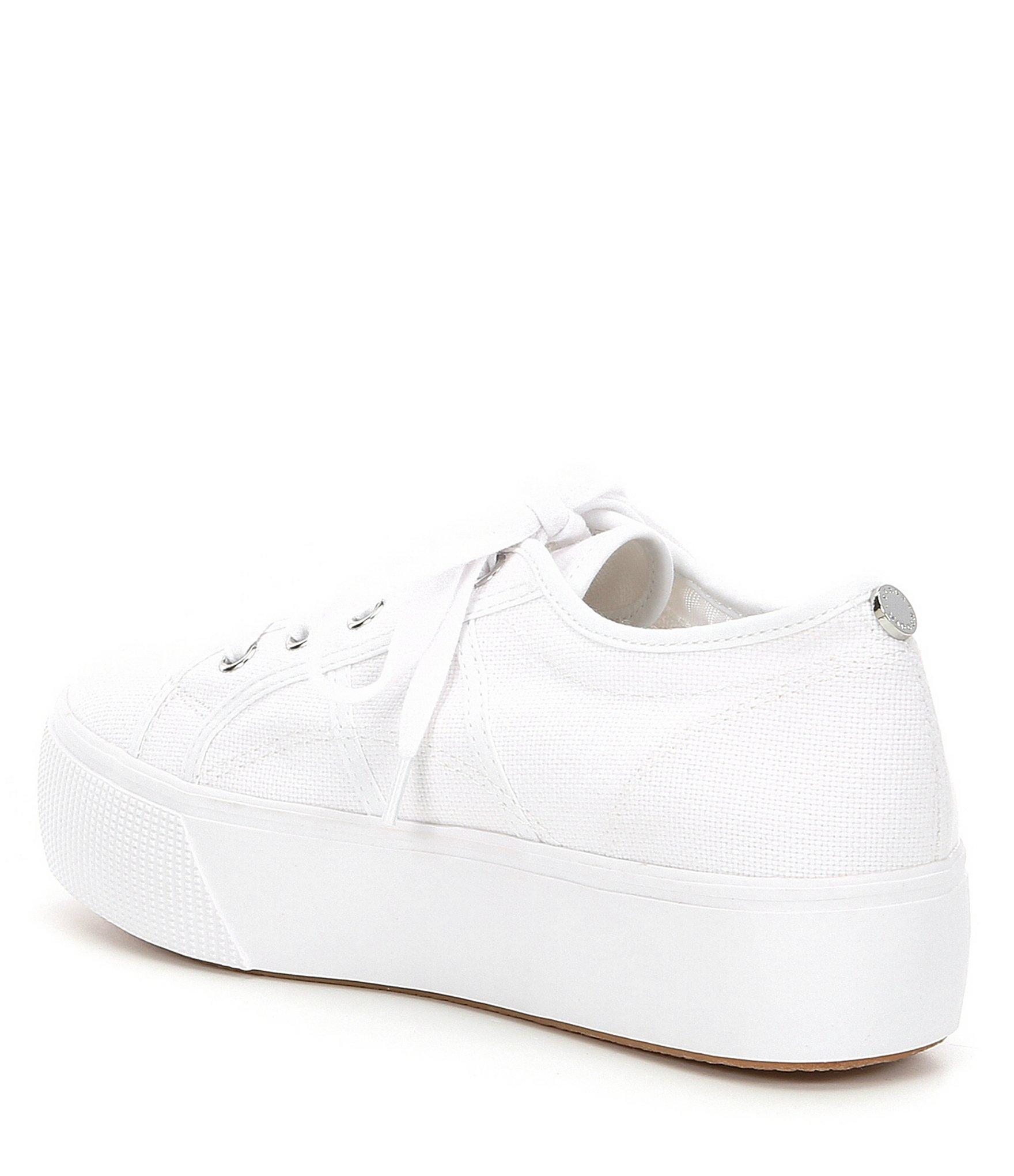 b7559a05ac3c Steve Madden - White Emmi Canvas Platform Sneakers - Lyst. View fullscreen