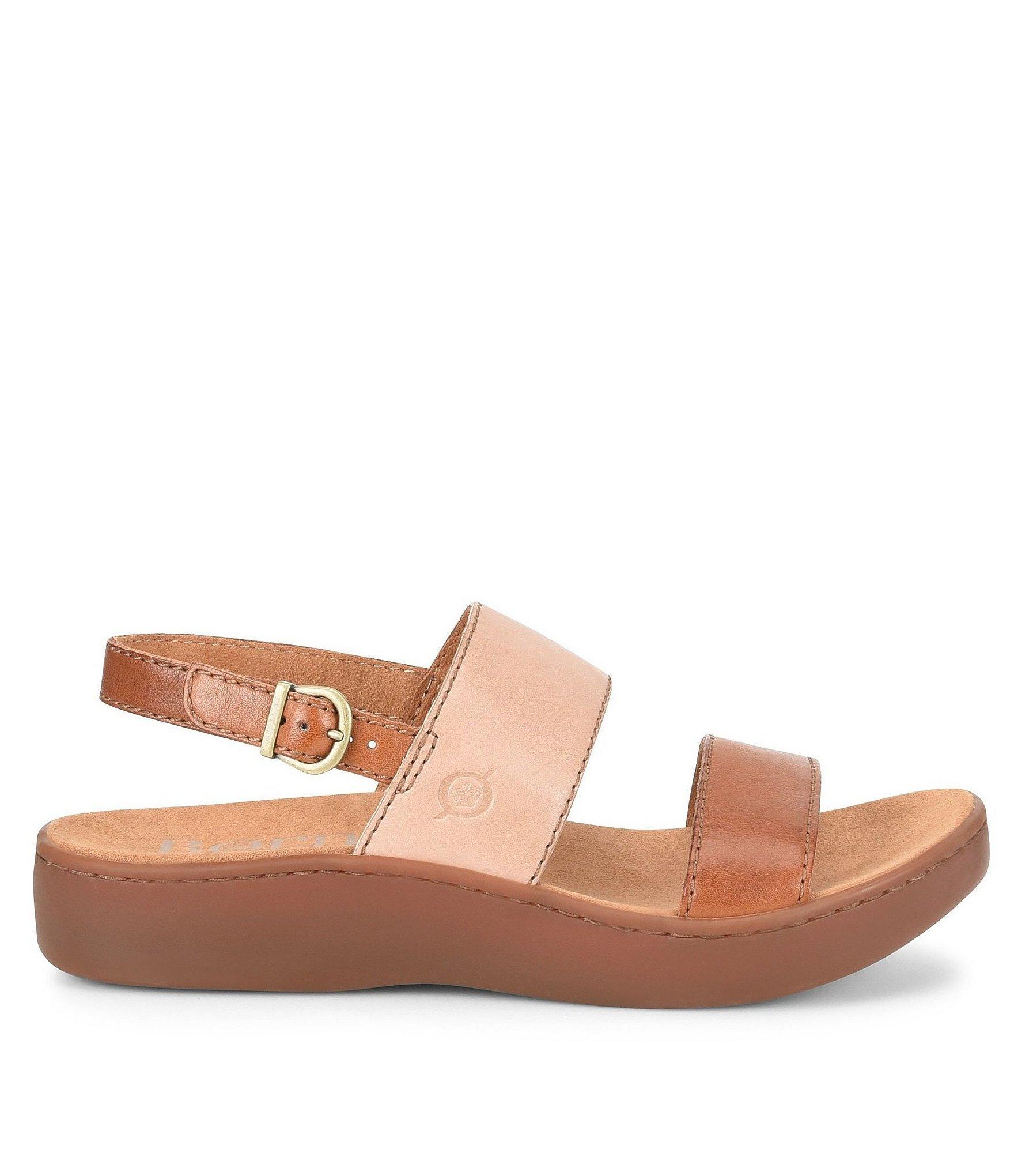 46aa2ba367e7 Born - Brown Oconee Banded Leather Sandals - Lyst. View fullscreen