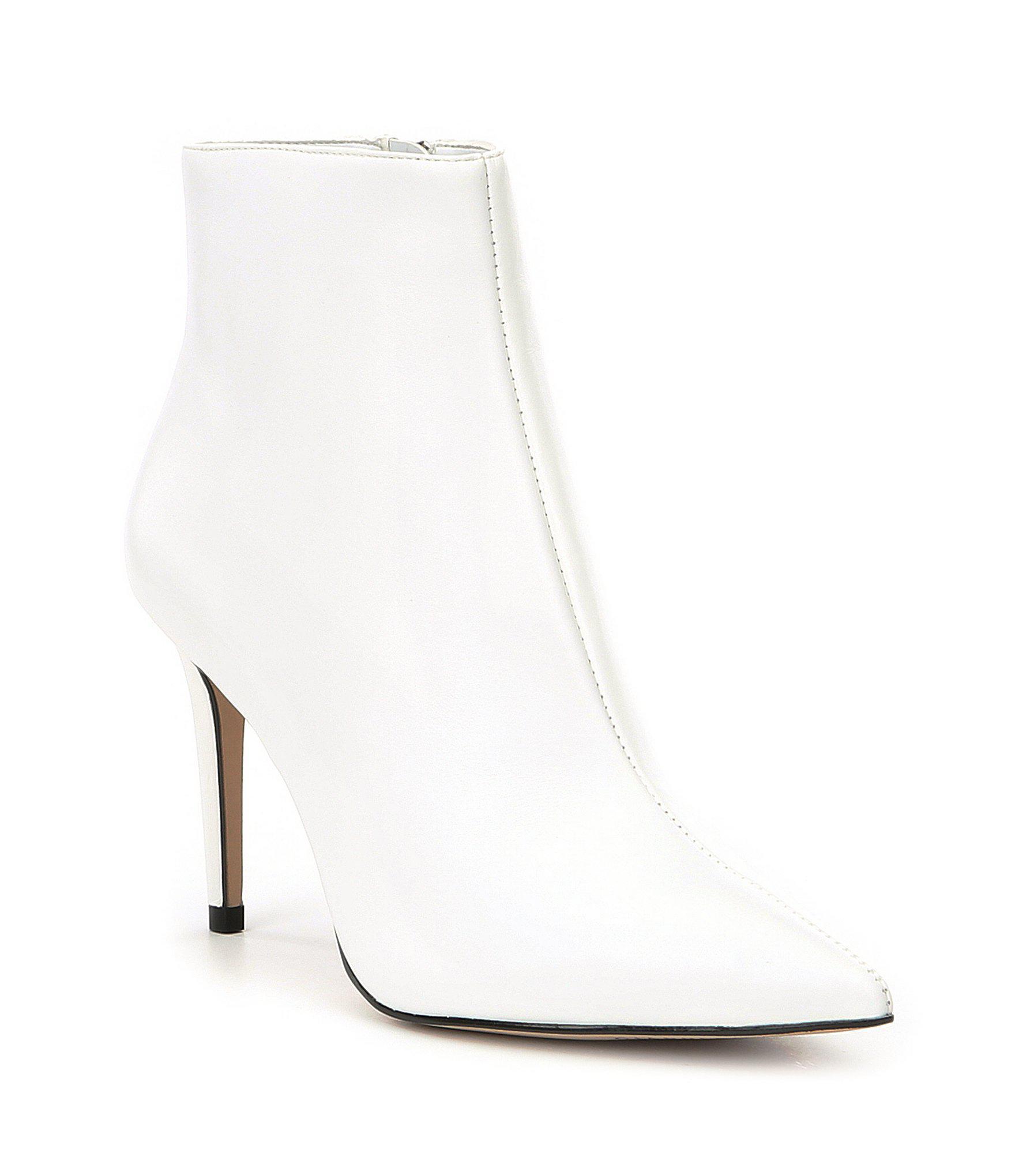 80ffb0eb9ba Gianni Bini White Nailah Leather Booties