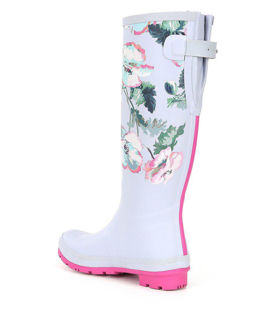 Wellyprint Floral Tall Rain Boots 6Kuwgr