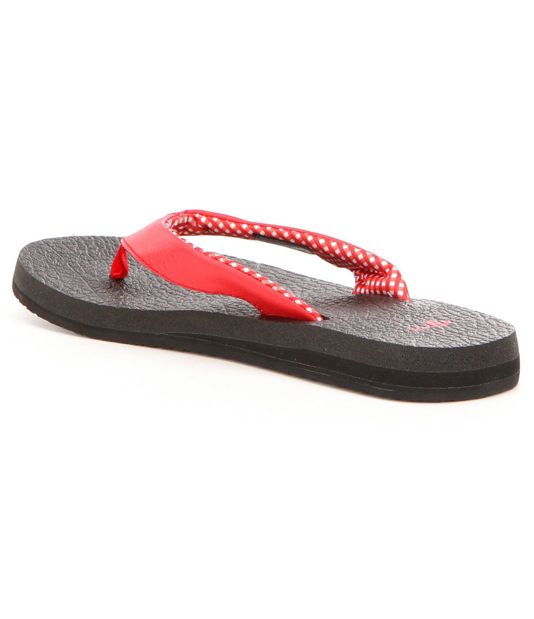 Sanuk Yoga Mat Flip Flop Sandals In Red  Lyst-2215