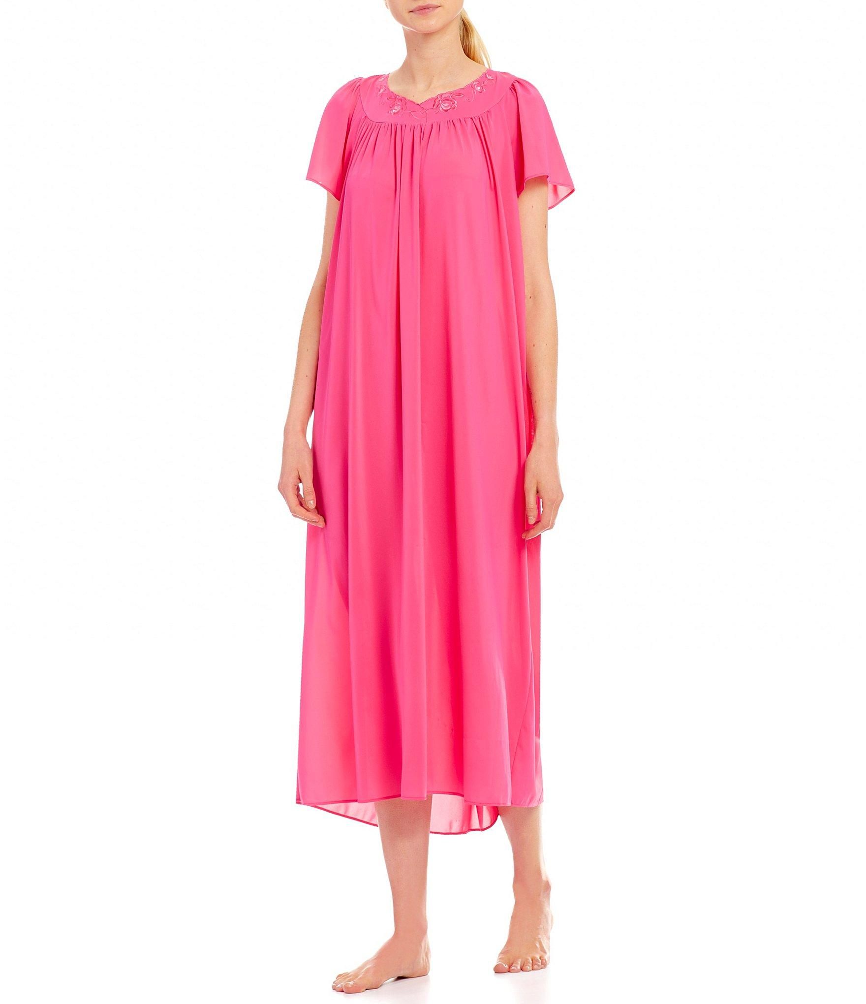 8896bdf9ba Lyst - Miss Elaine Tricot Nightgown in Pink