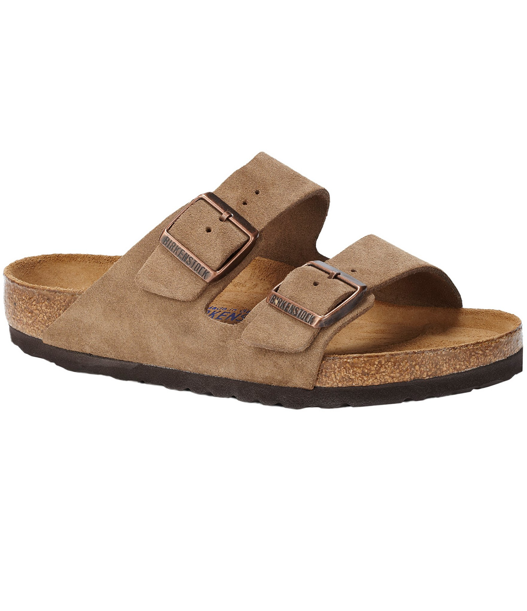 Birkenstock Arizona Suede Sandals in Brown