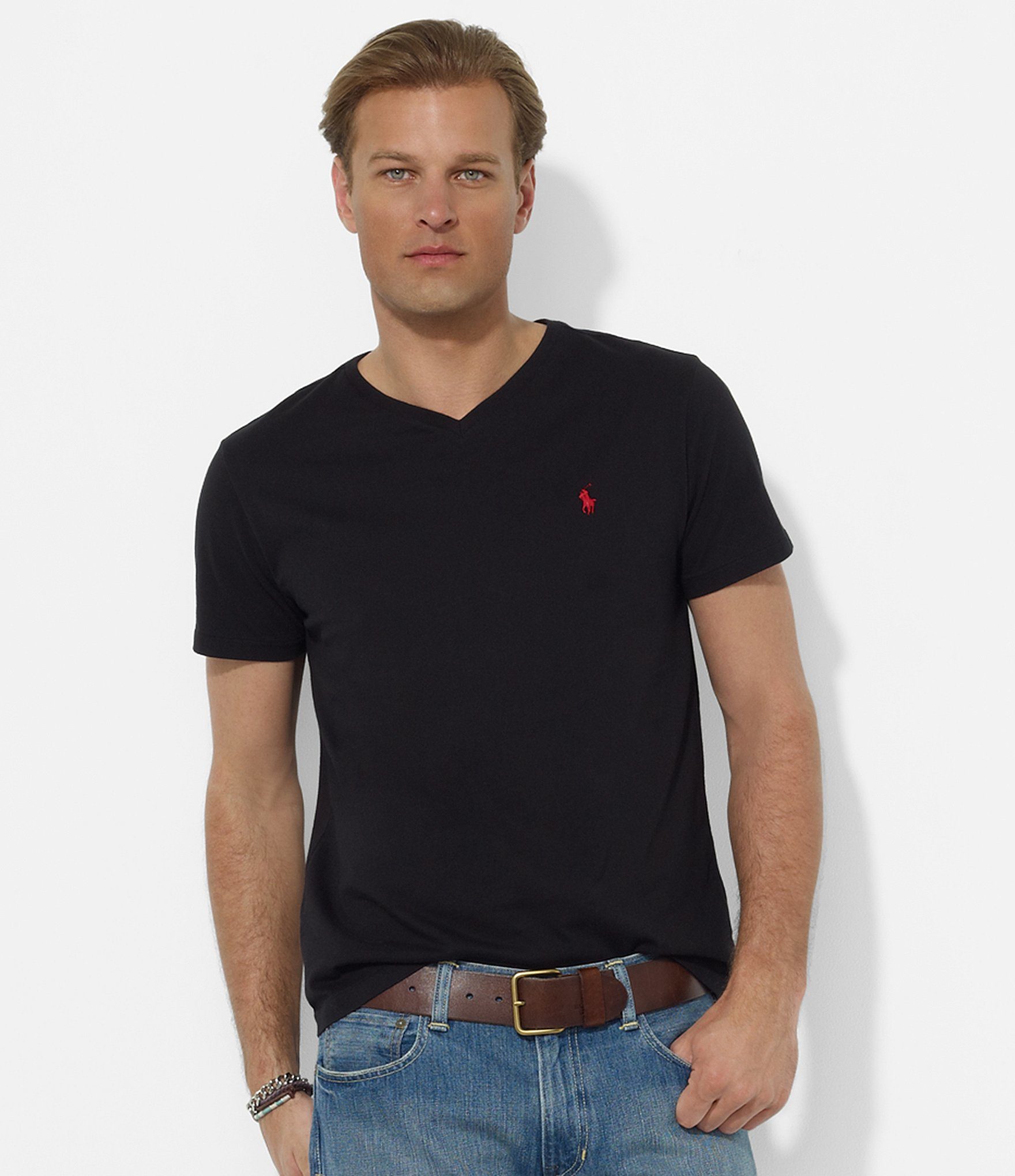 Polo Ralph Lauren Medium Fit Short Sleeved Cotton Jersey V