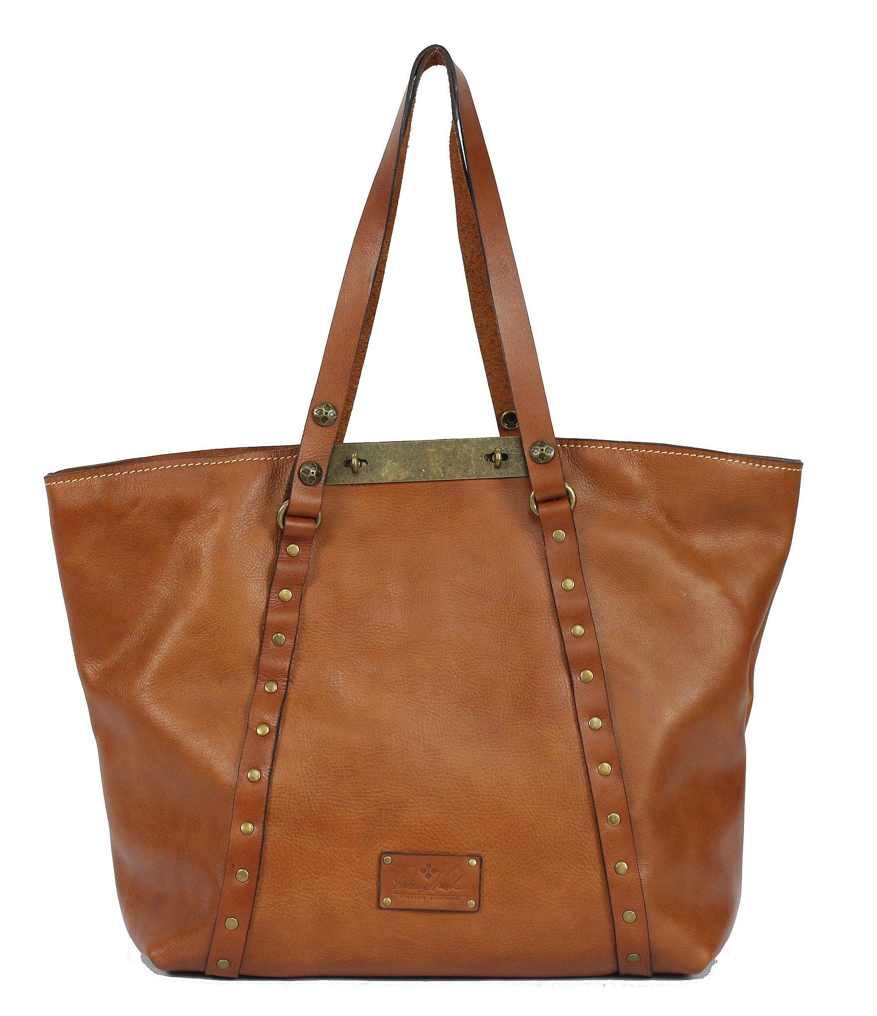 Patricia nash Leather Benvenuto Convertible Tote in Brown ...