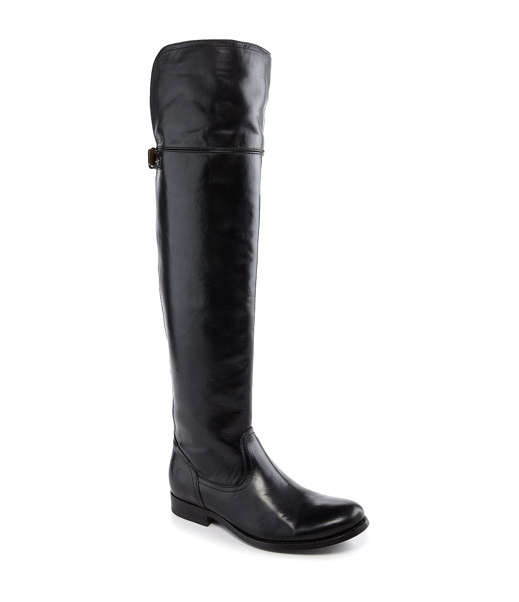 Frye Melissa Button Over The Knee Boots In Black Lyst