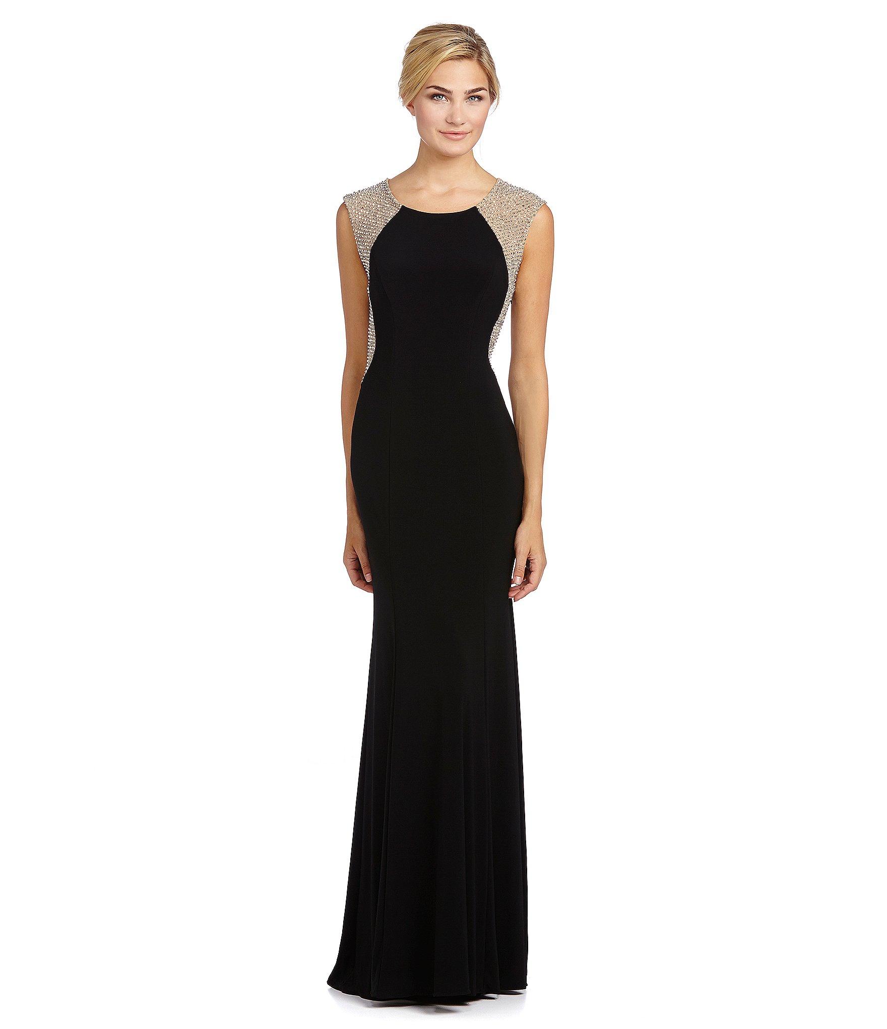Xscape Beaded-back Gown in Black   Lyst