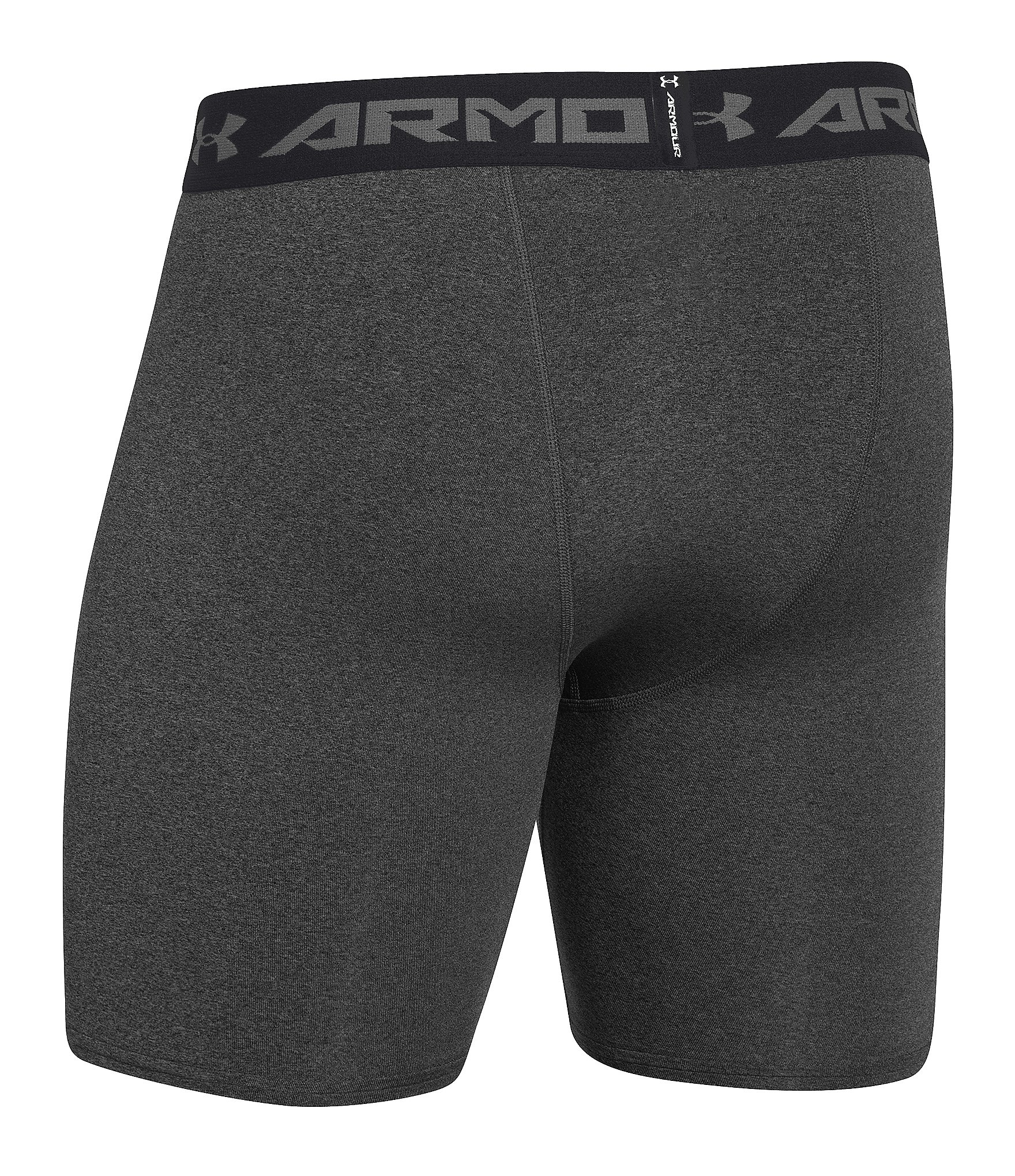 Under Armour Heatgear Armour Compression Mid Shorts In Black For Men Carbon Heather Black Lyst