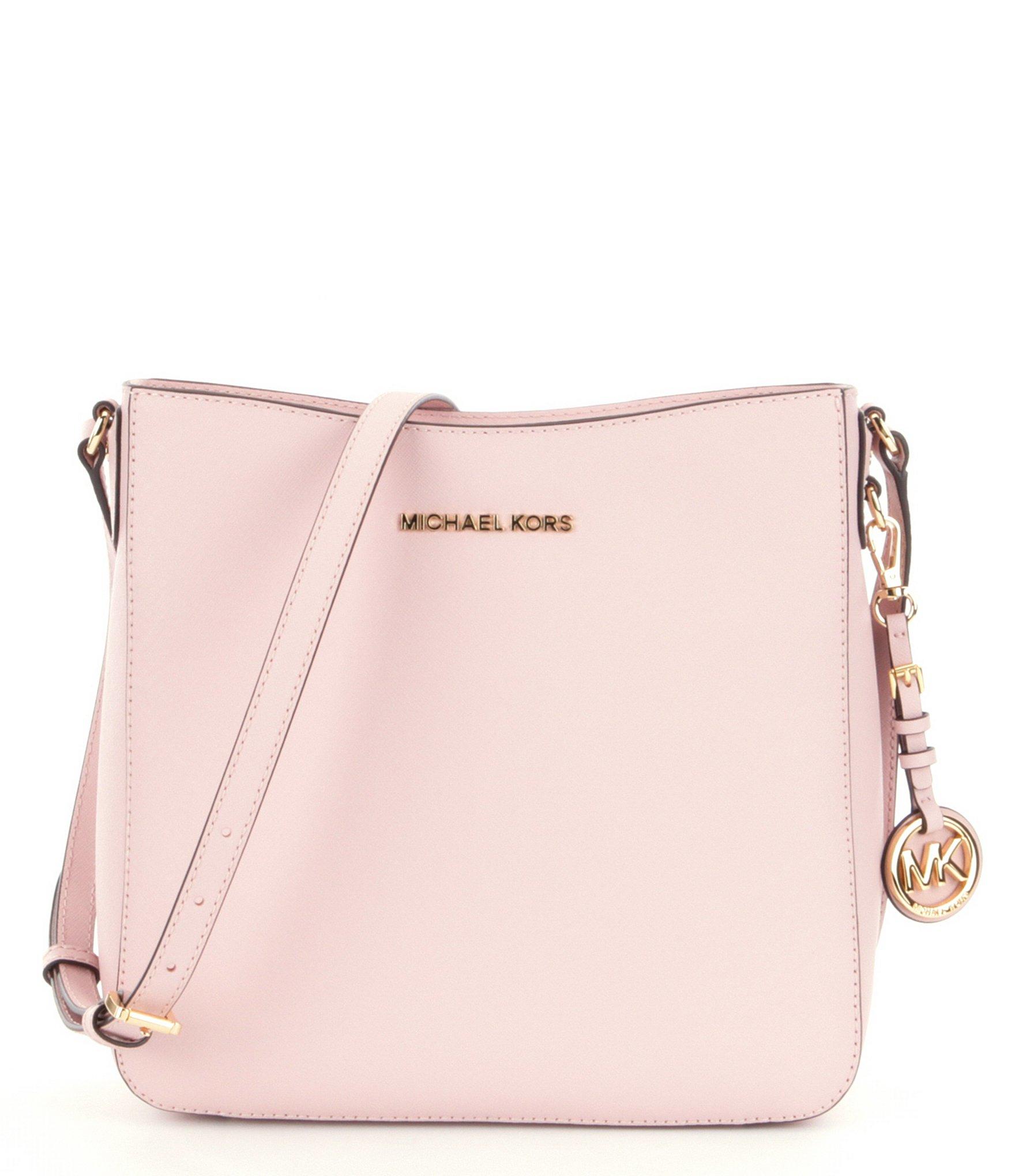 33158c9ea13f Lyst - MICHAEL Michael Kors Jet Set Travel Large Messenger Bag in Pink