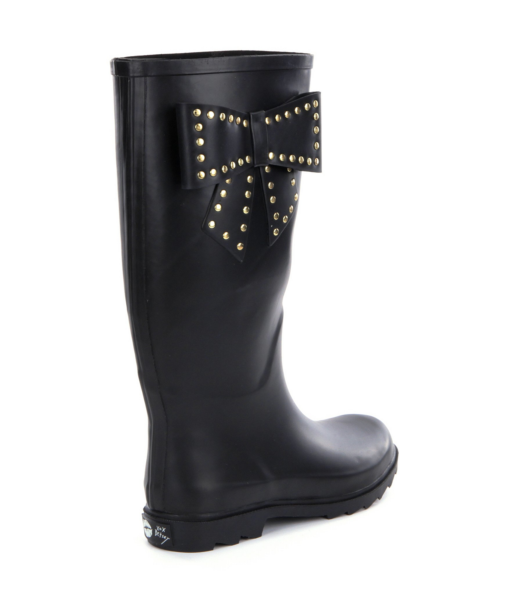 Betsey Johnson Stormm Bow Rain Boots In Black Lyst