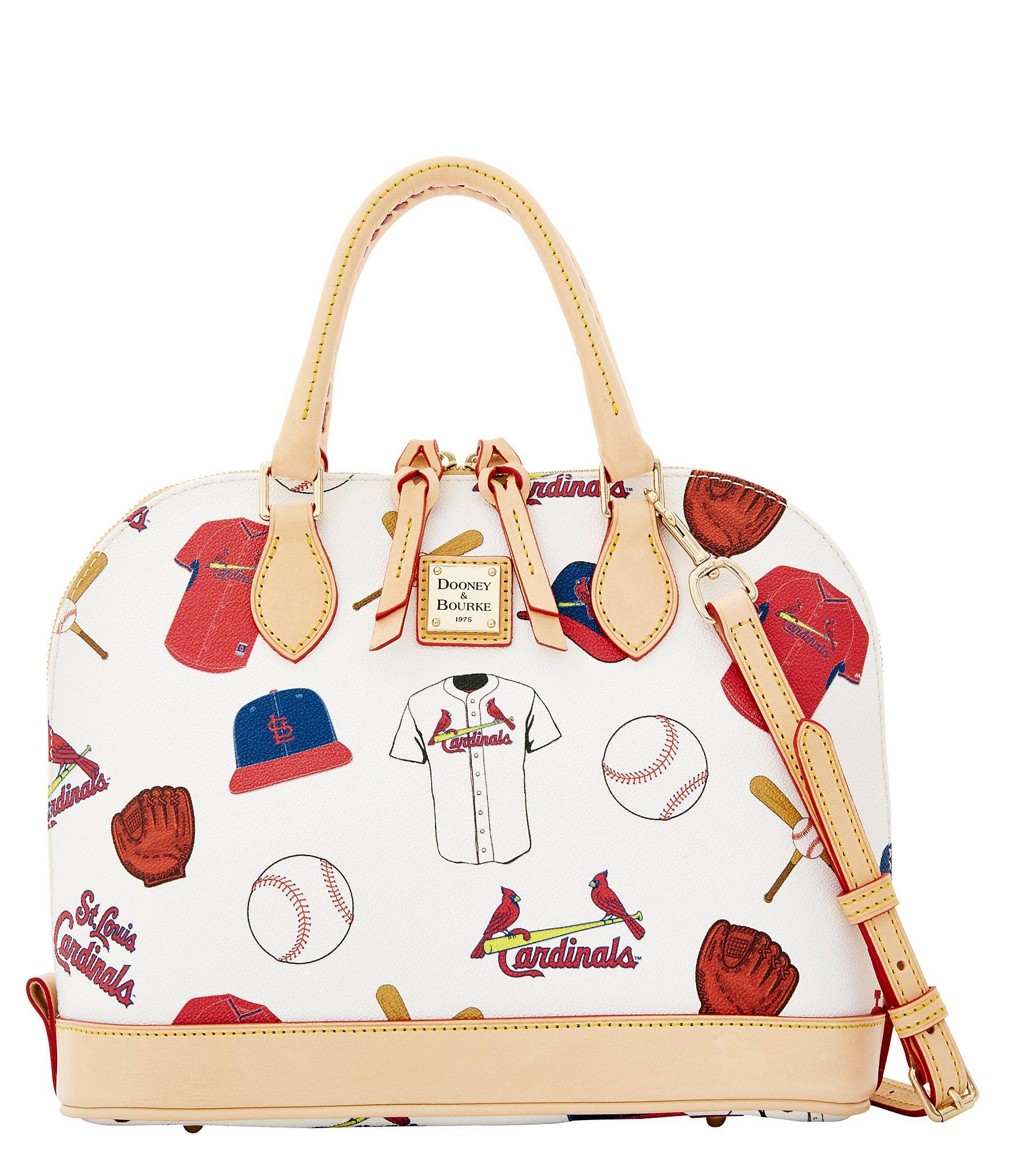 Lyst - Dooney   Bourke St. Louis Cardinals Zip Zip Satchel in White 8b6dfcfbcf