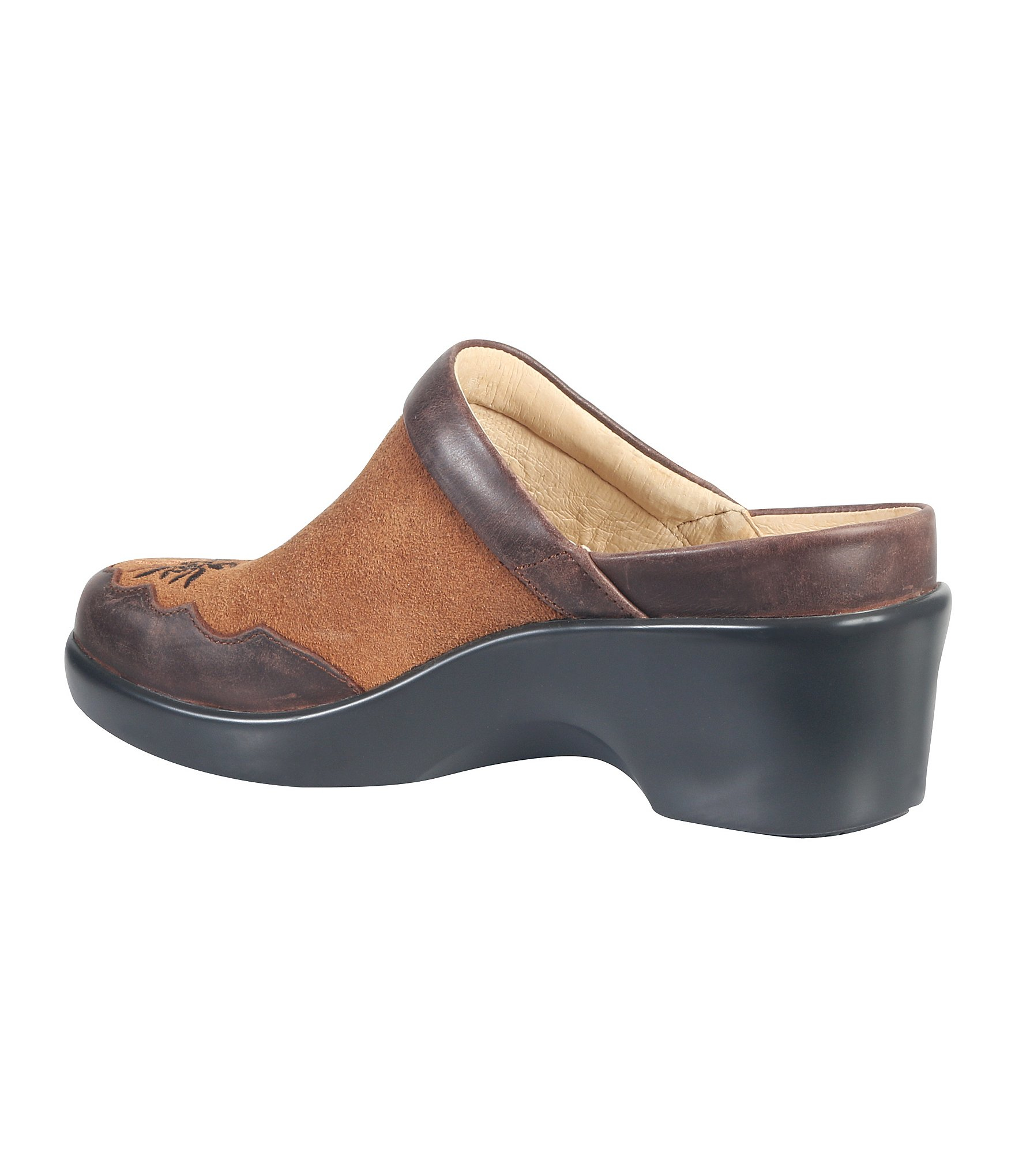 alegria isabelle wedge clogs in brown lyst. Black Bedroom Furniture Sets. Home Design Ideas