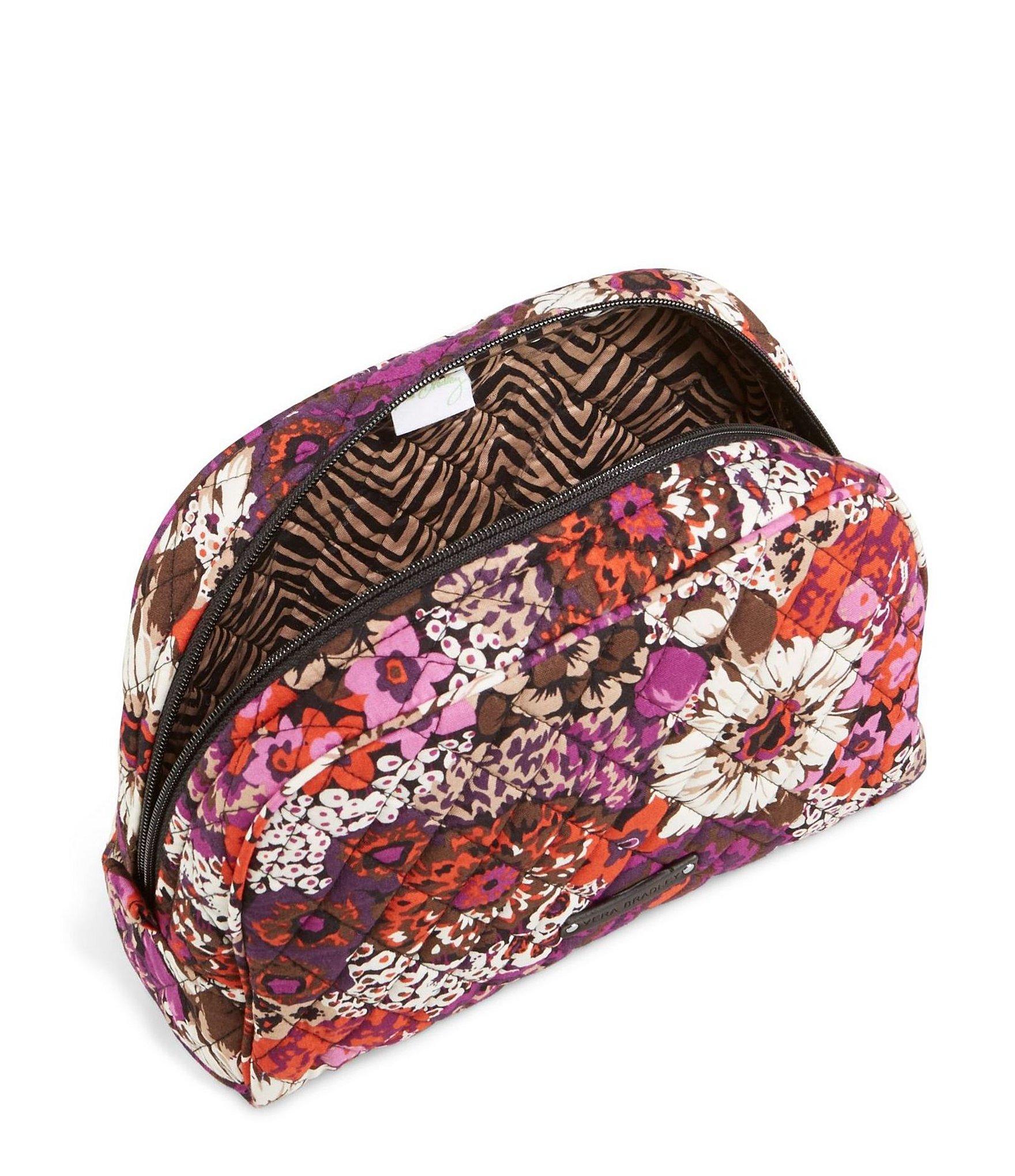 vera bradley large zip cosmetic bag lyst