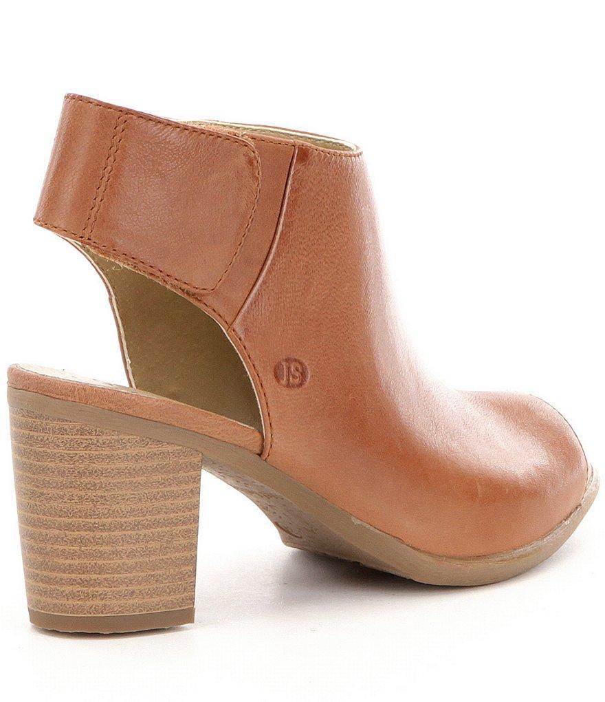 Lyst Josef Seibel Bonnie 09 Leather Peep Toe Stacked