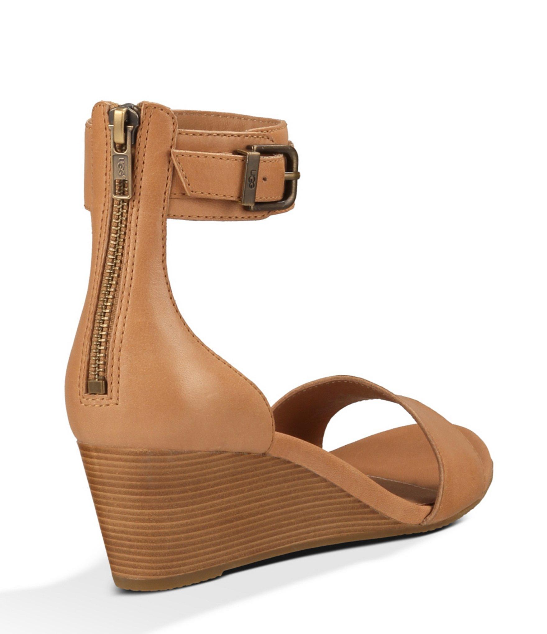 685a6054b6b UGG Brown ® Char Wedge Sandals