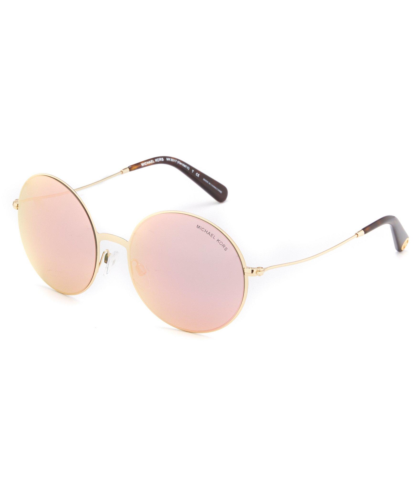 cb71633615e3 Michael Kors Kendall Round Rimless Mirror Lens Sunglasses in ...