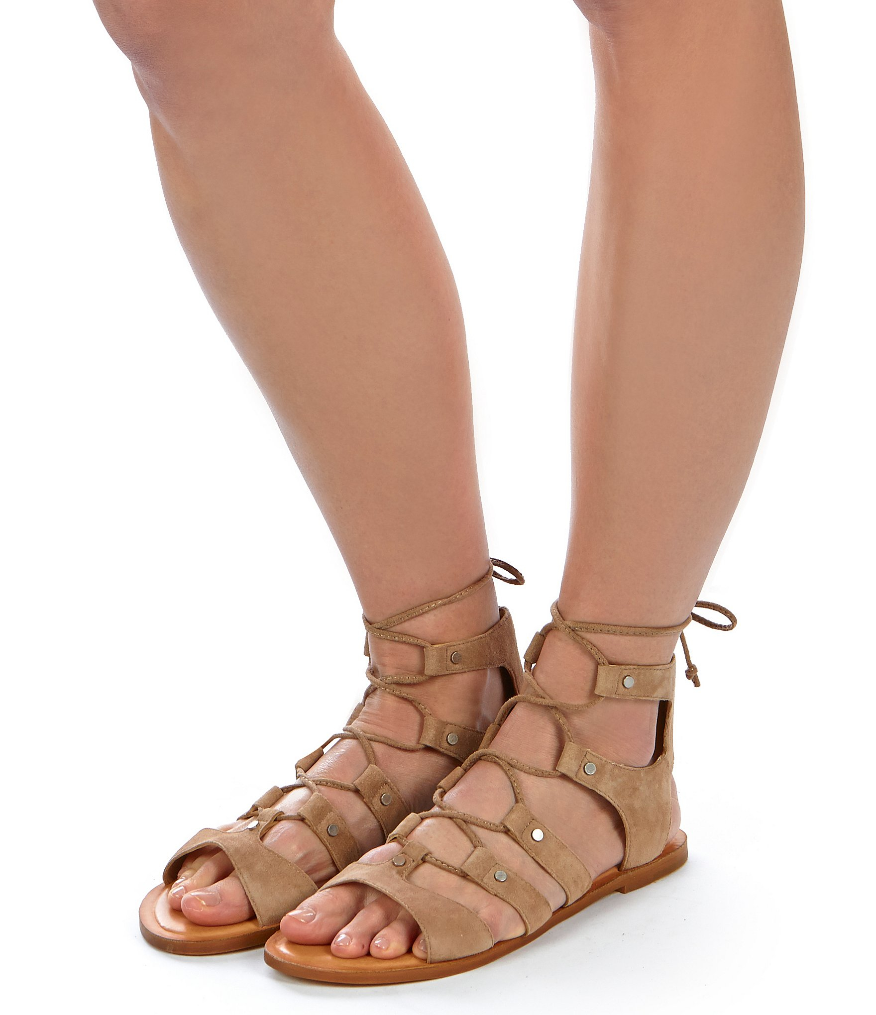 shades of sleek new design Jasmyn Ghillie Flat Sandals