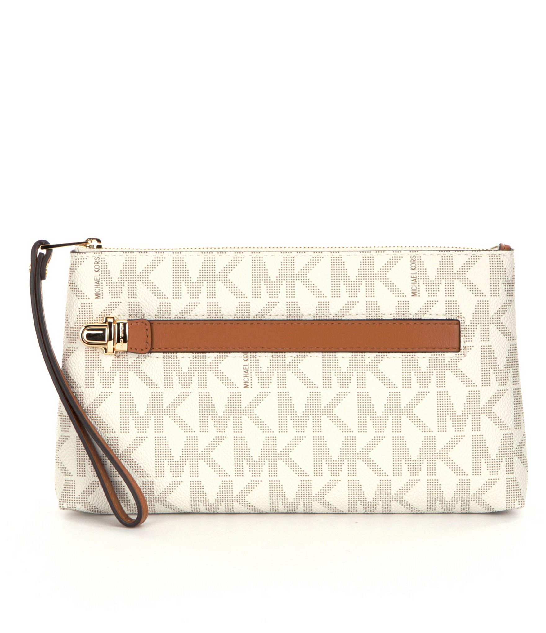 264b5fb875c86 Lyst - MICHAEL Michael Kors Charlton Medium Wristlet in White