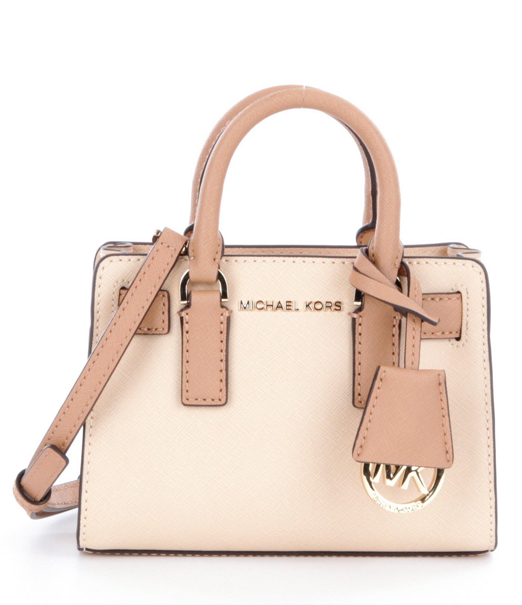 95a65ebb93a3 MICHAEL Michael Kors Dillon Xs Cross-body Bag in Natural - Lyst