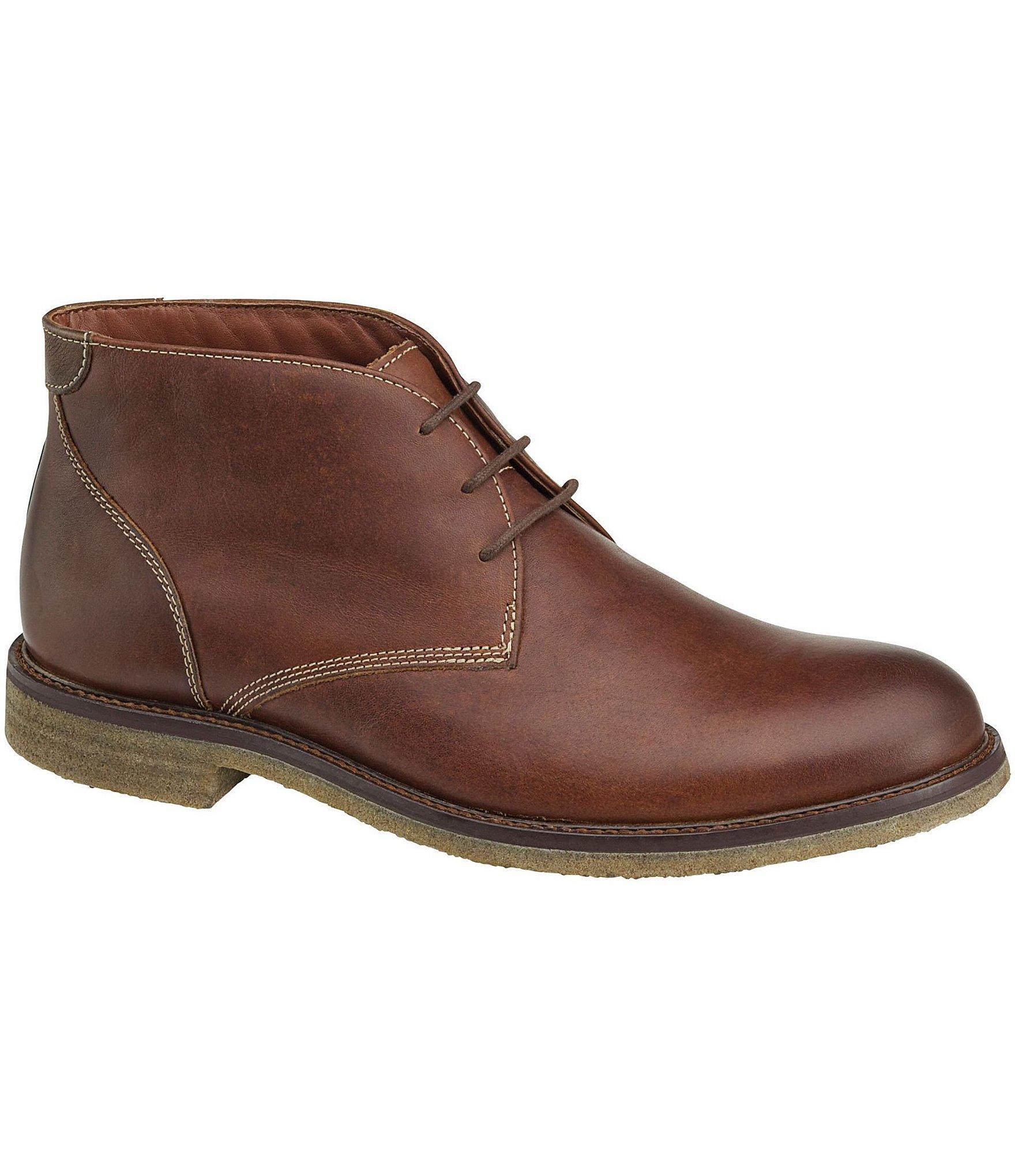 johnston murphy s copeland chukka boots in brown
