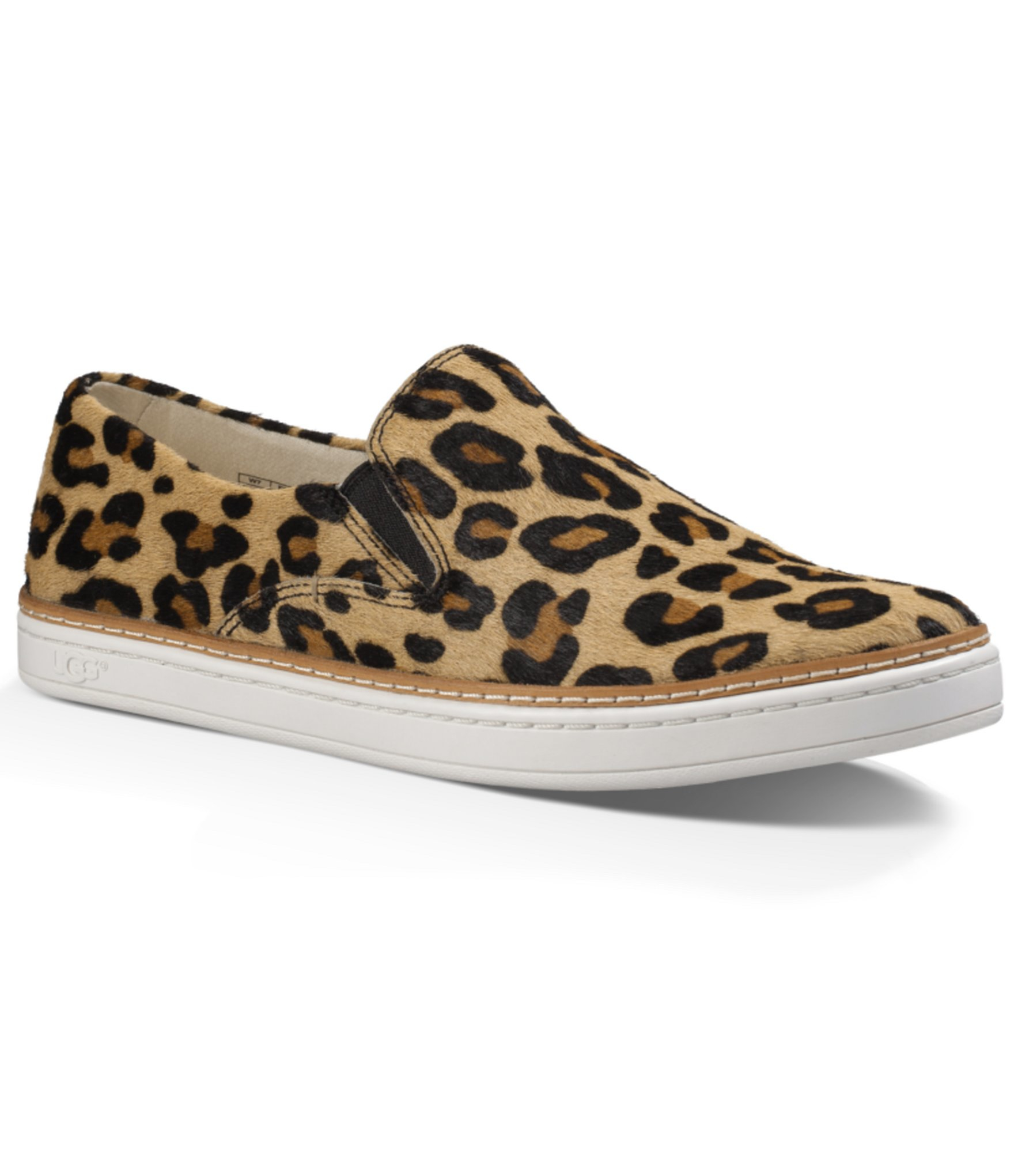 ugg 174 keile leopard slip ons in brown lyst