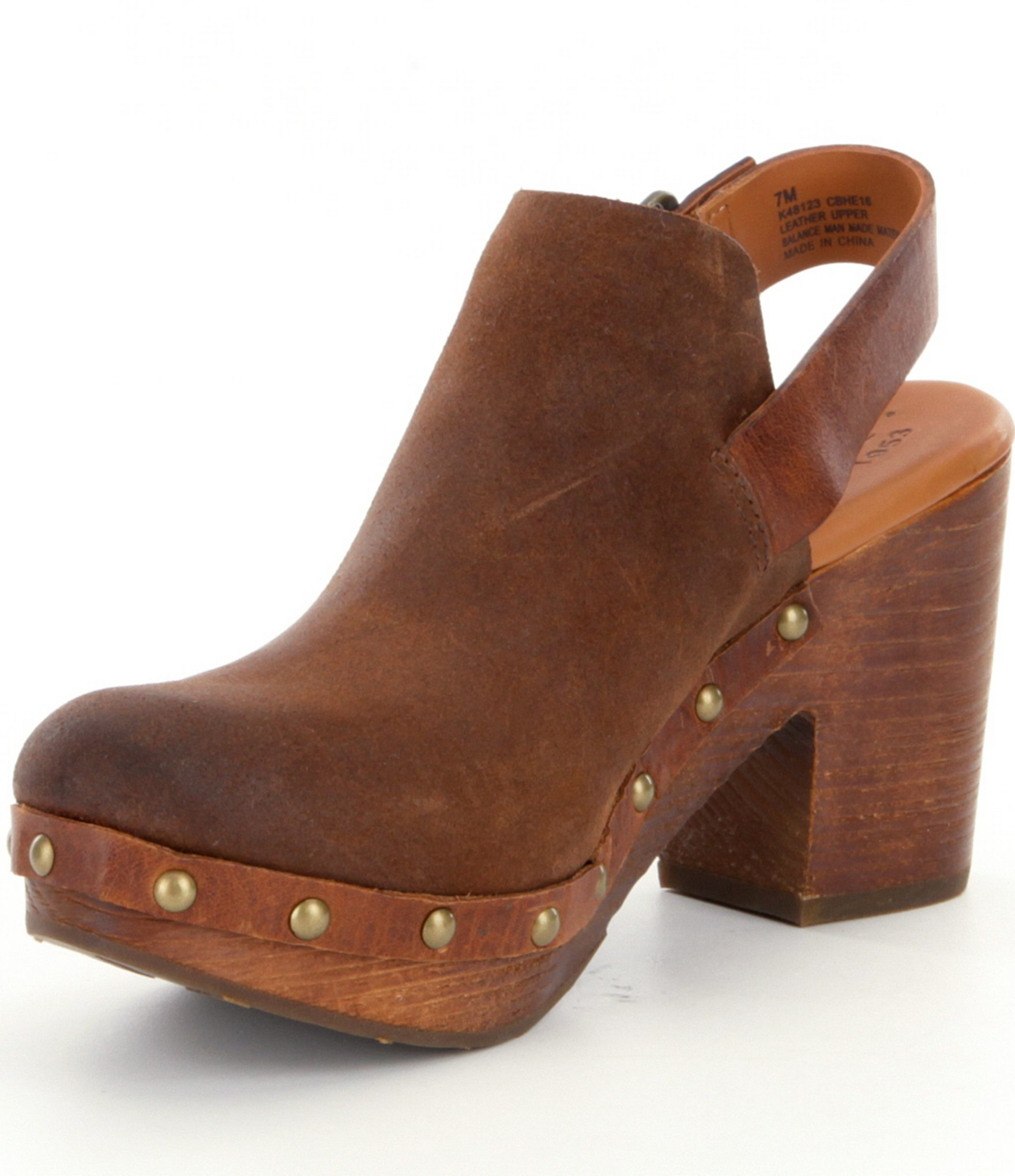 Lyst Kork Ease Rosalind Block Heel Clogs In Brown