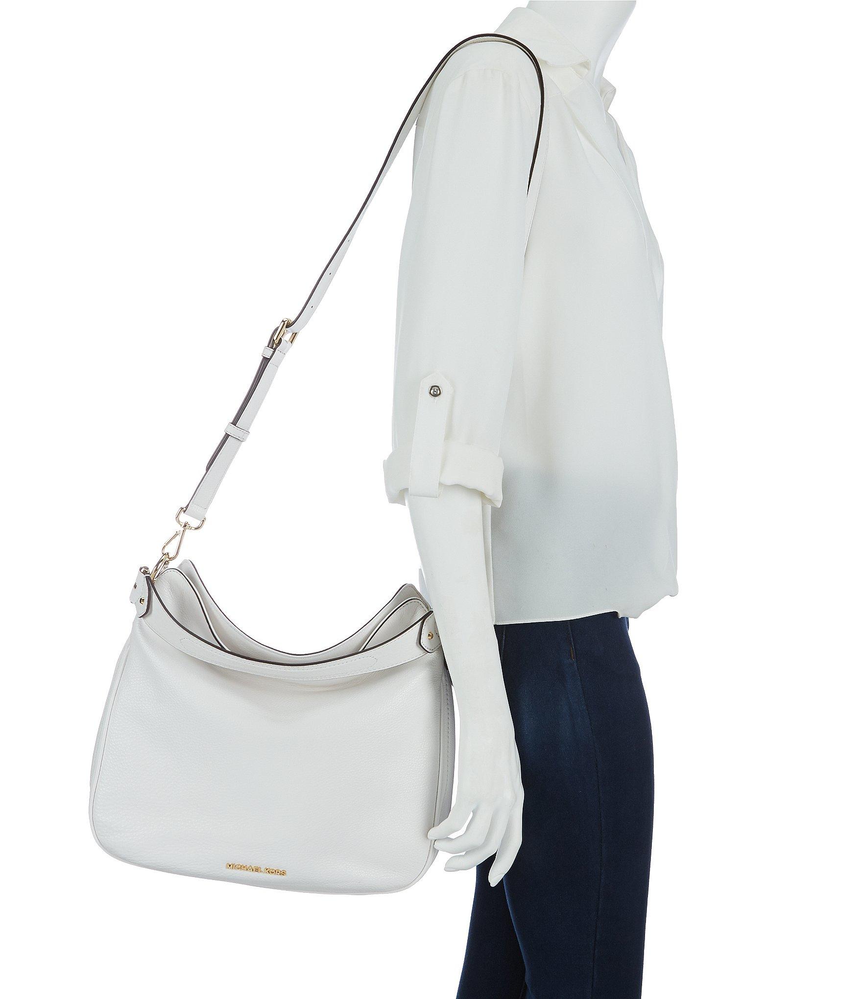 932f55eb08 Lyst - MICHAEL Michael Kors Heidi Medium Convertible Leather Hobo ...