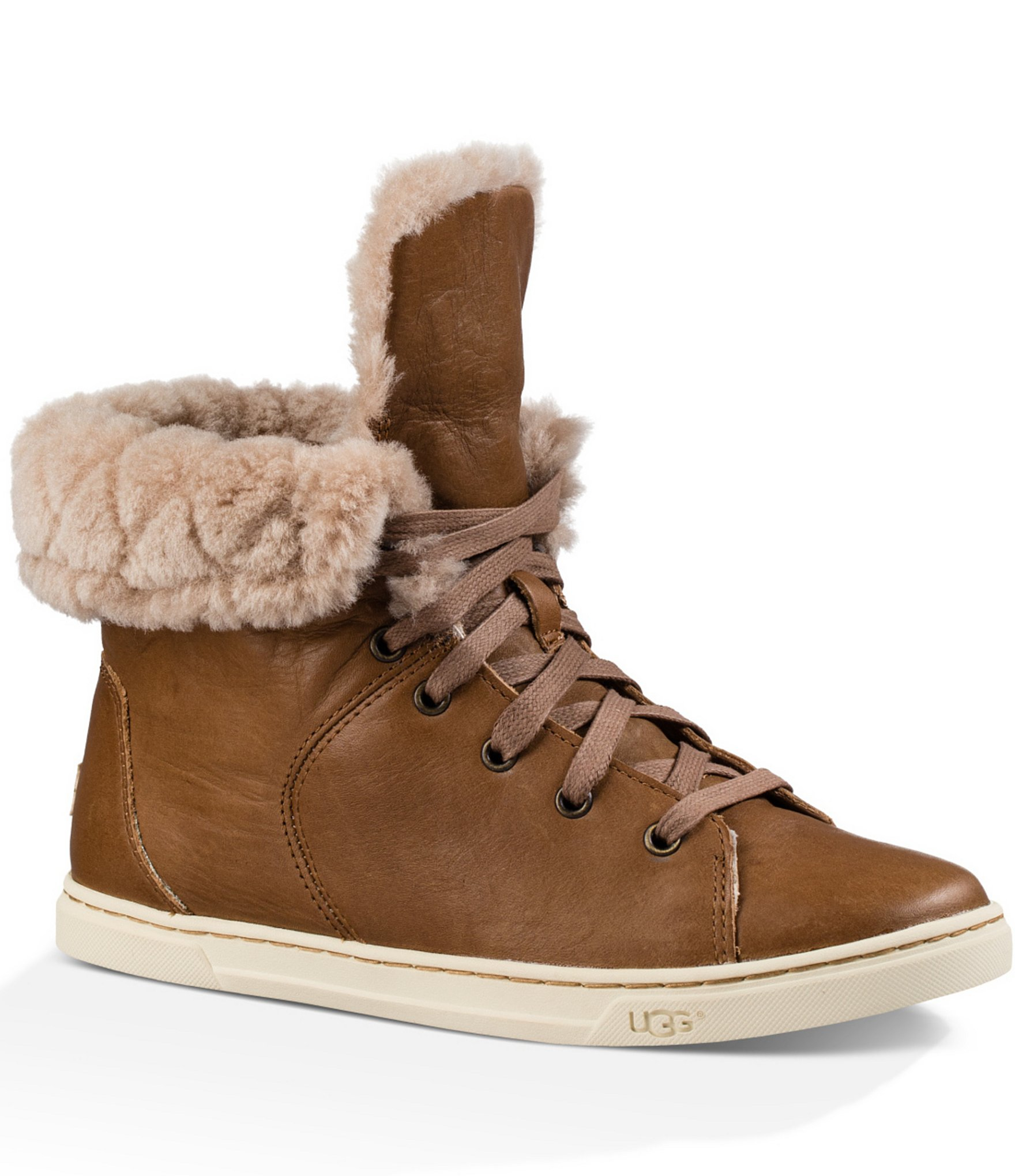 f0fe18f93f7 UGG Multicolor ® Croft Luxe Quilt Burnished Leather Lace Up Sneakers