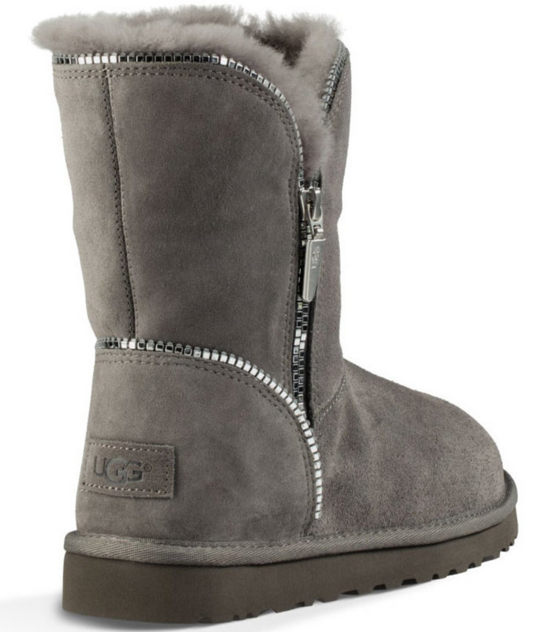 a4e1efd1399 UGG Gray ® Florence Decorative Zip Boots