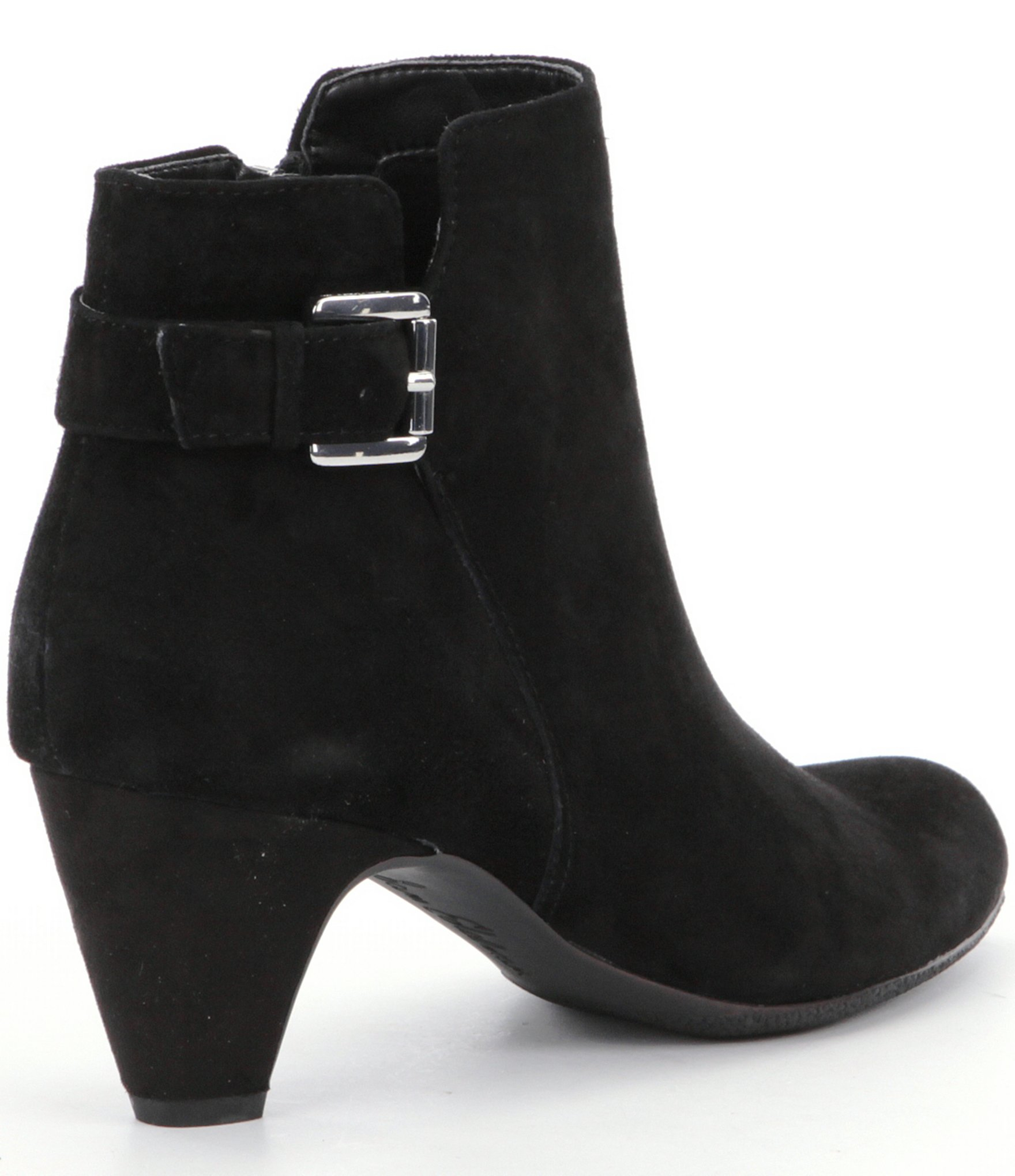 sam edelman mona suede ankle boots in black lyst