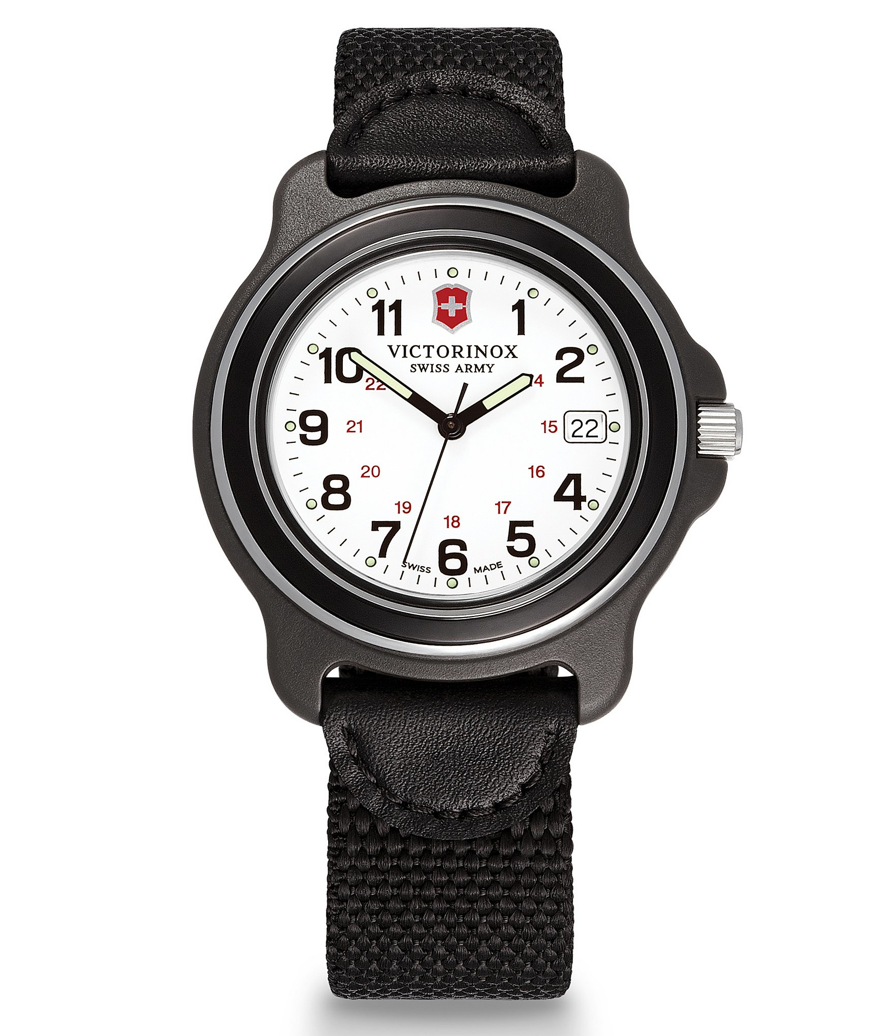 Lyst victorinox original xl military time luminescent watch in black for Luminescence watches