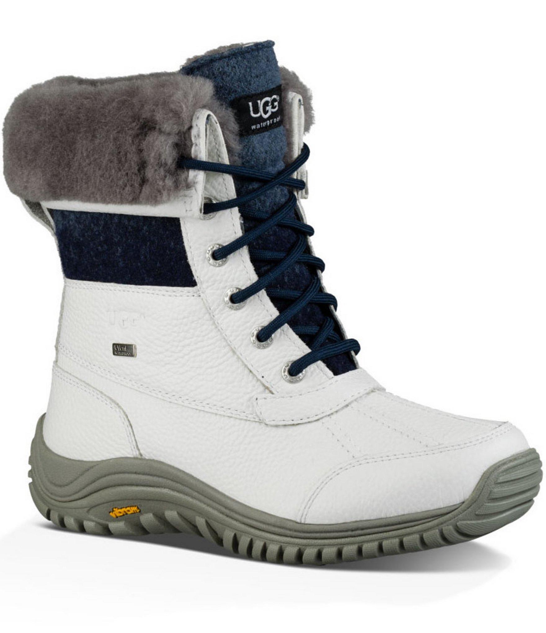 1e7a4450f53 UGG White ® Adirondack Ii Cold-weather Wool Cuff Lace Up Boots
