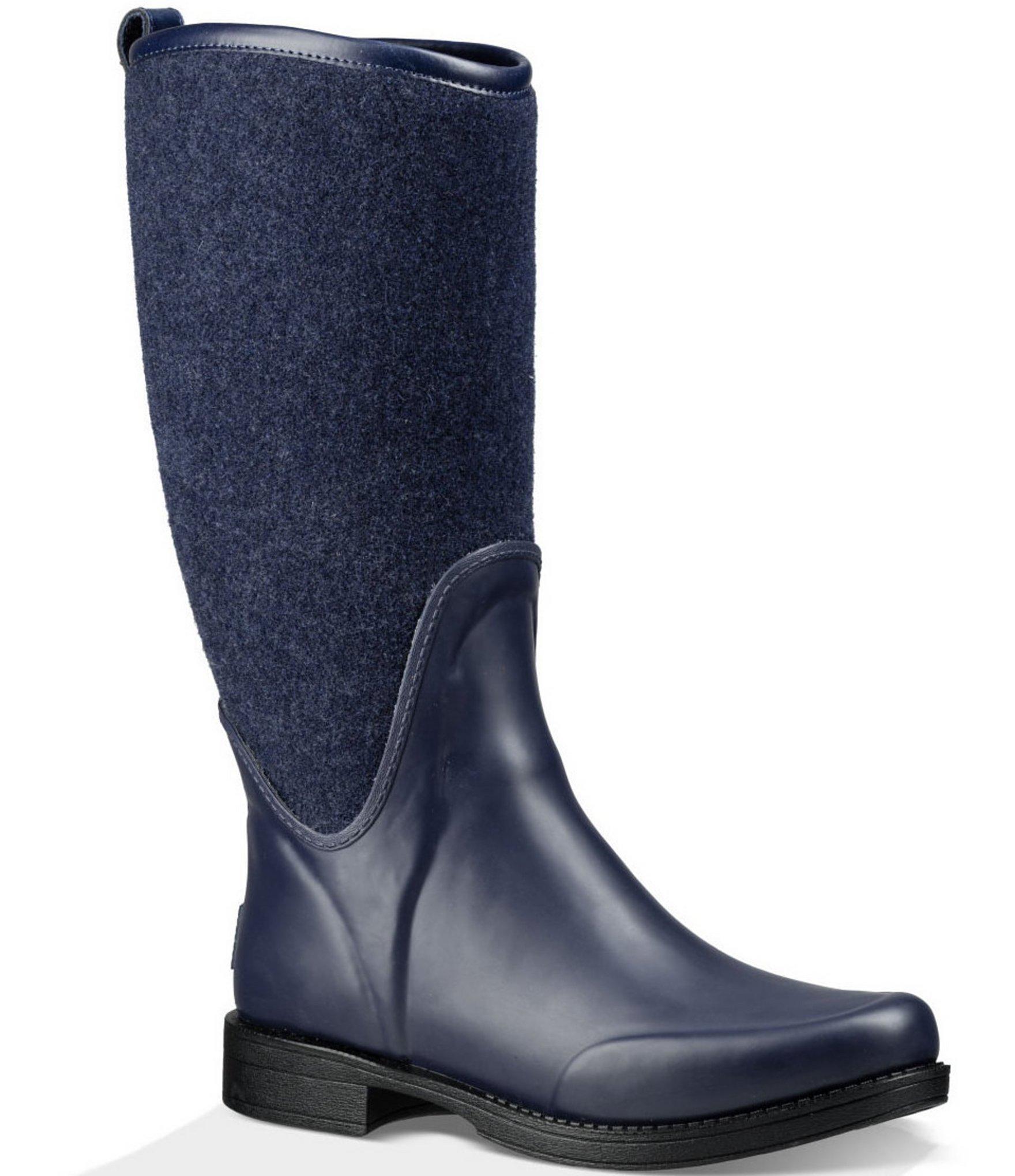uggs logo rain boots