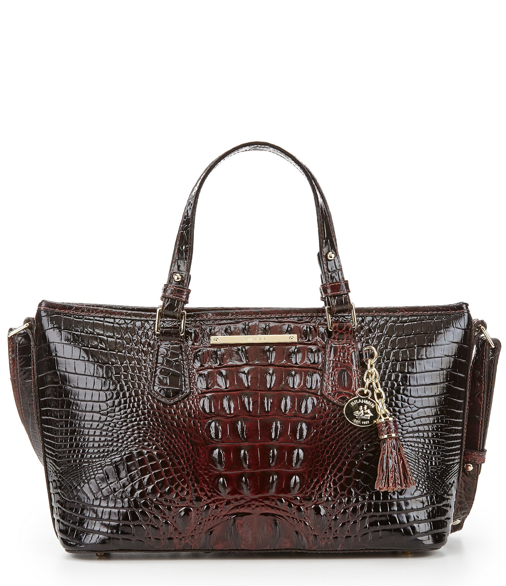 Brahmin Melbourne Collection Mini Asher Tote in Brown