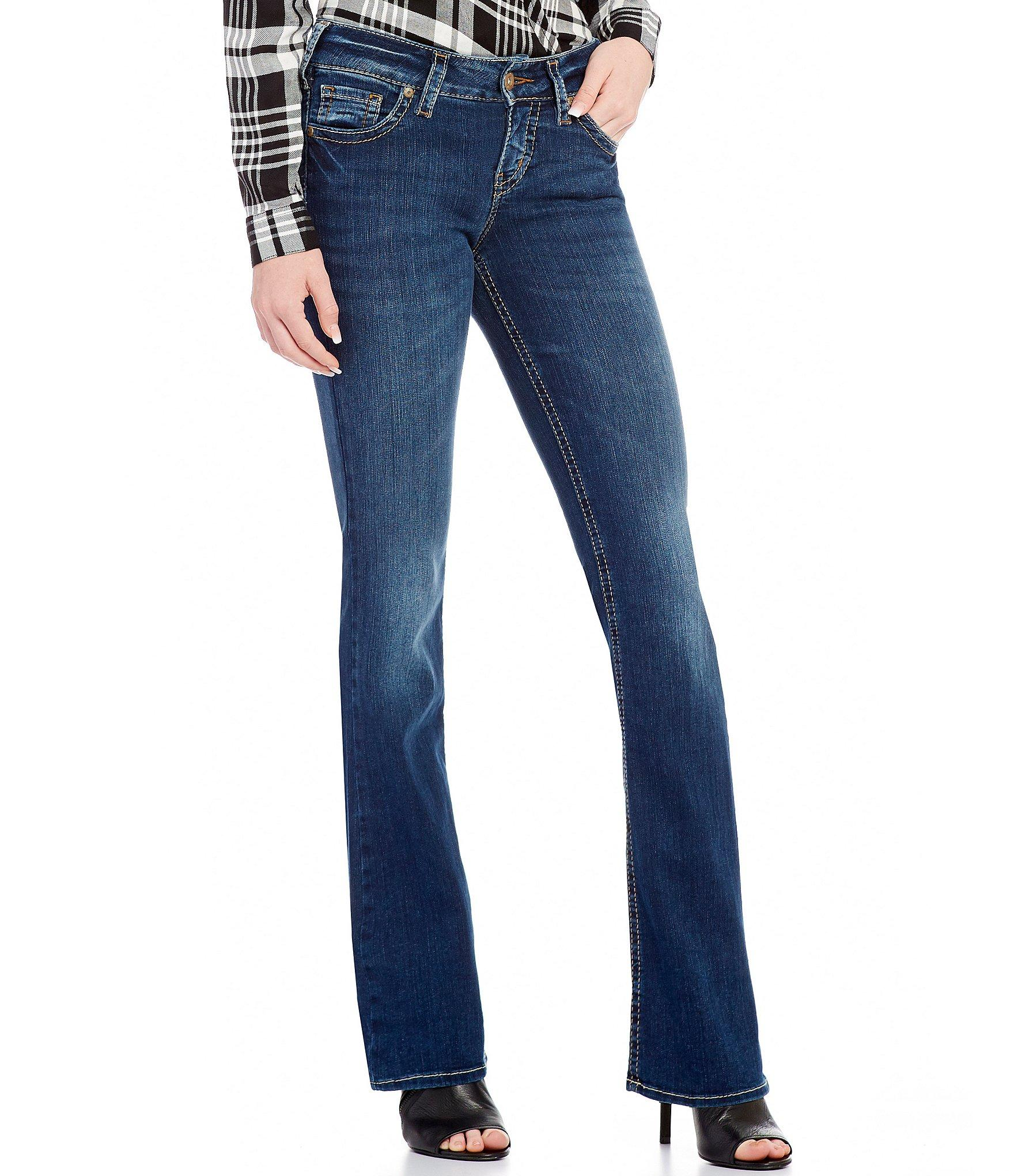 Silver jeans co. Suki Mid-rise Super Stretch Bootcut Jeans in Blue ...