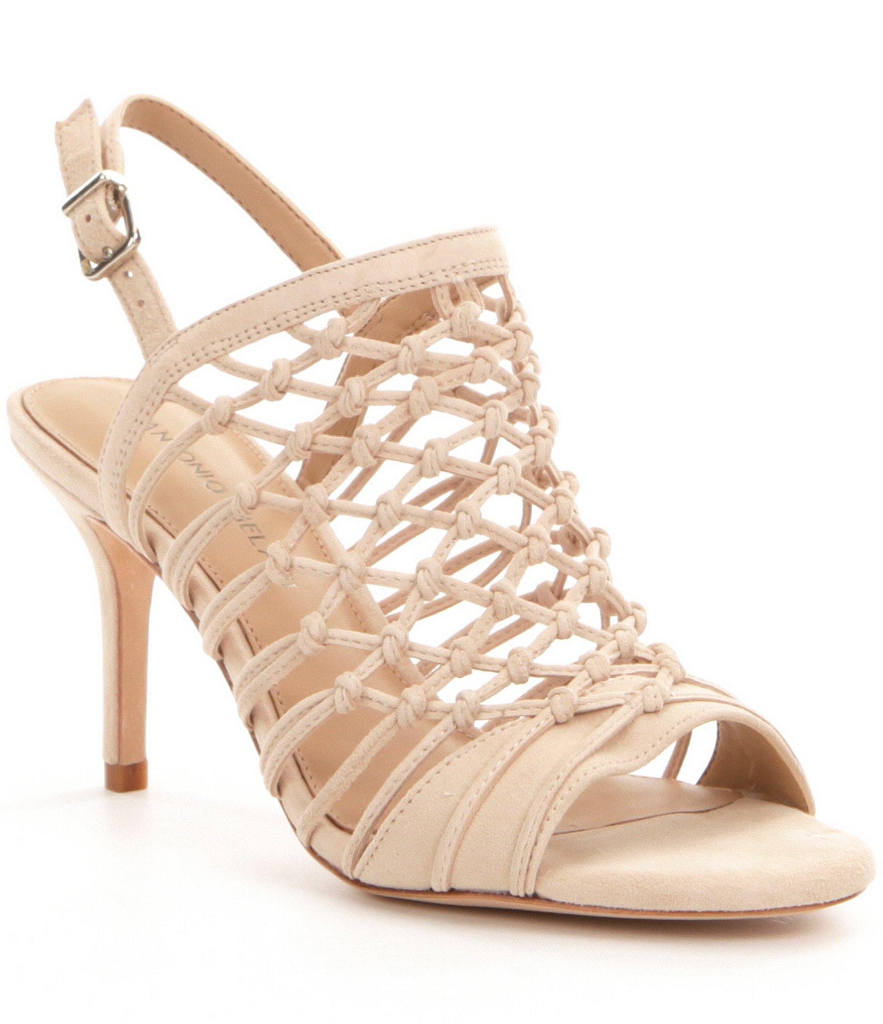Lyst Antonio Melani Jair Caged Dress Sandals In Natural