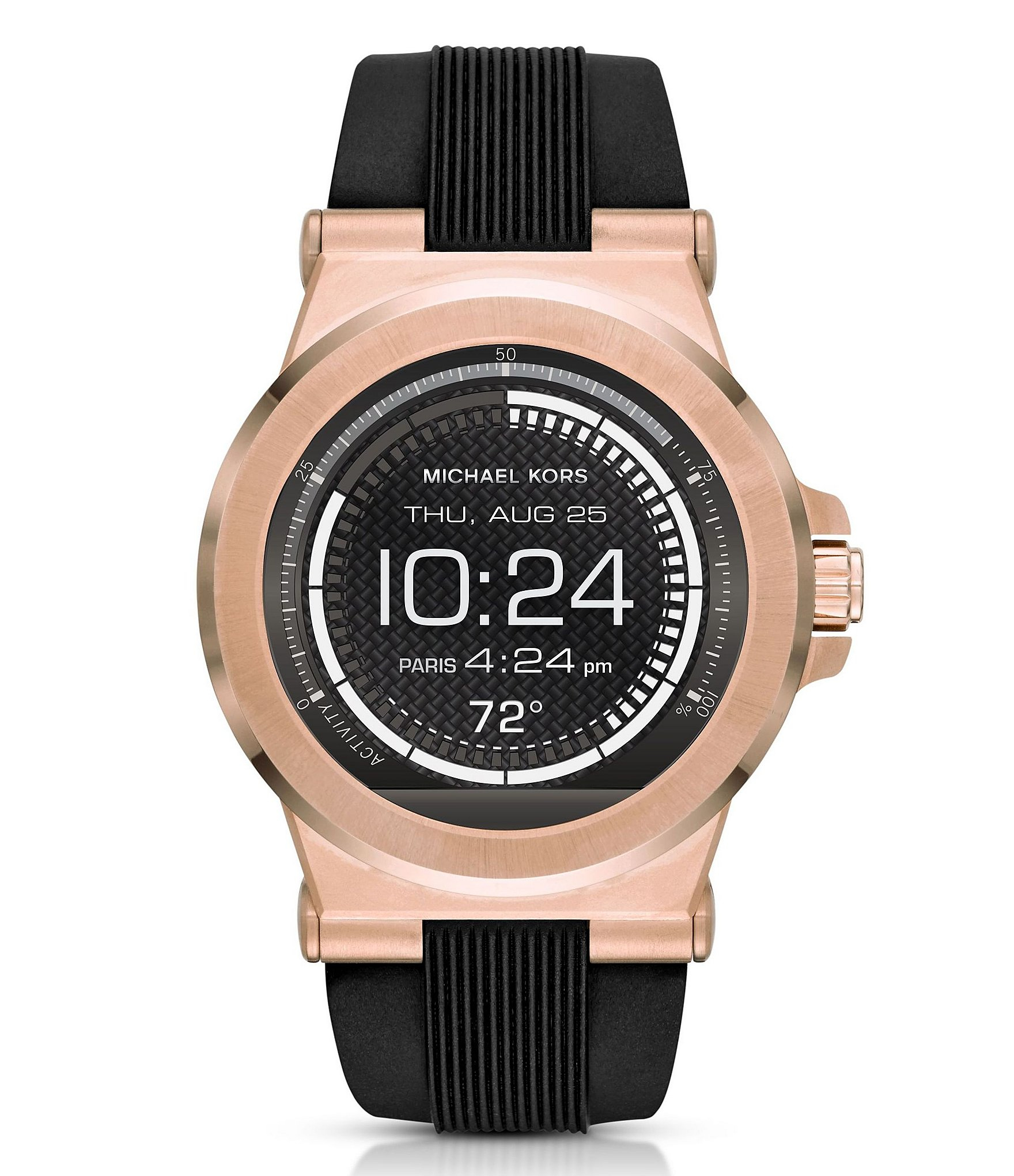 michael kors access dylan silicone strap smart watch in. Black Bedroom Furniture Sets. Home Design Ideas